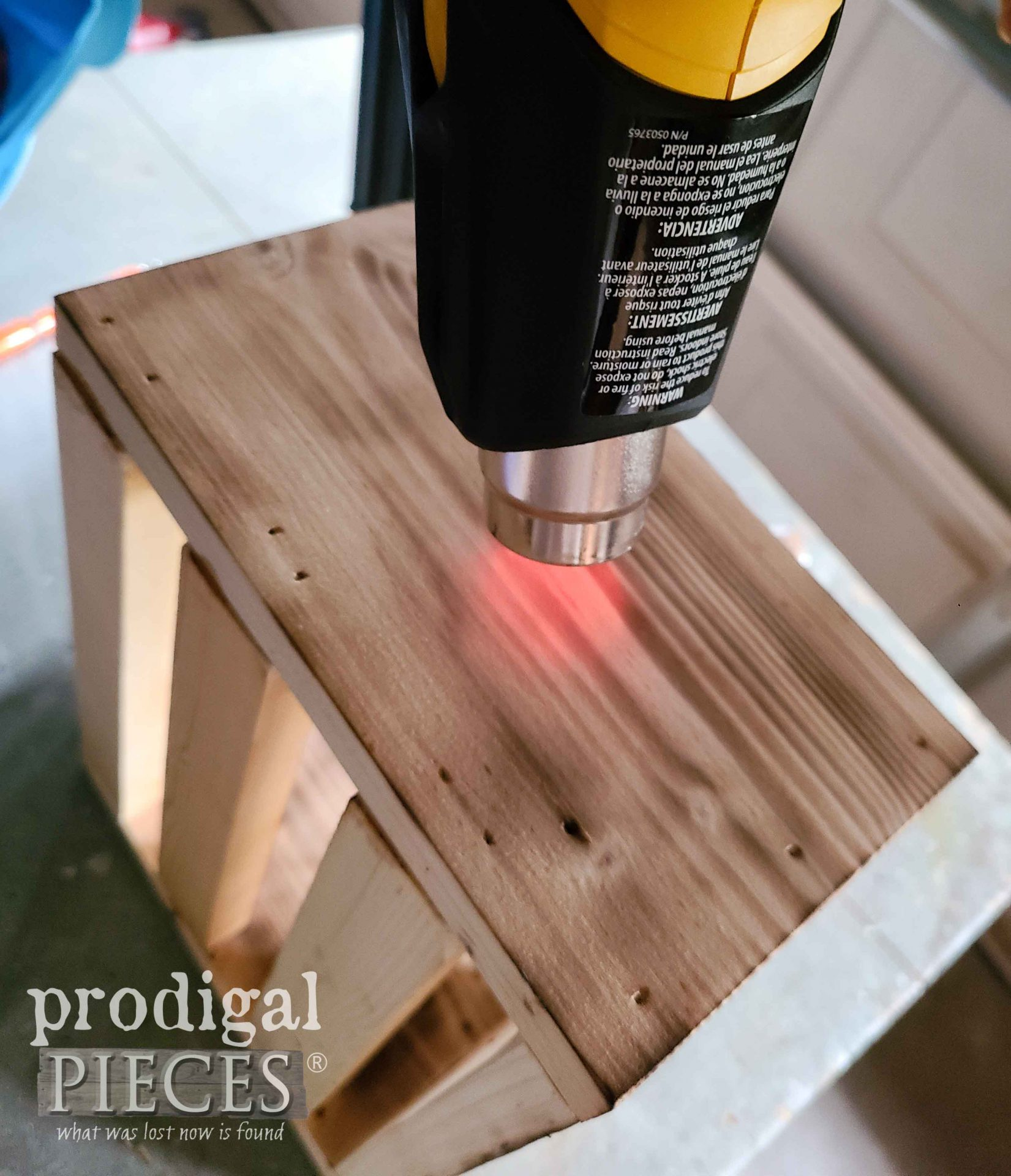 DIY Scorched Pine Wood with Furno Heat Gun by Larissa of Prodigal Pieces | prodigalpieces.com