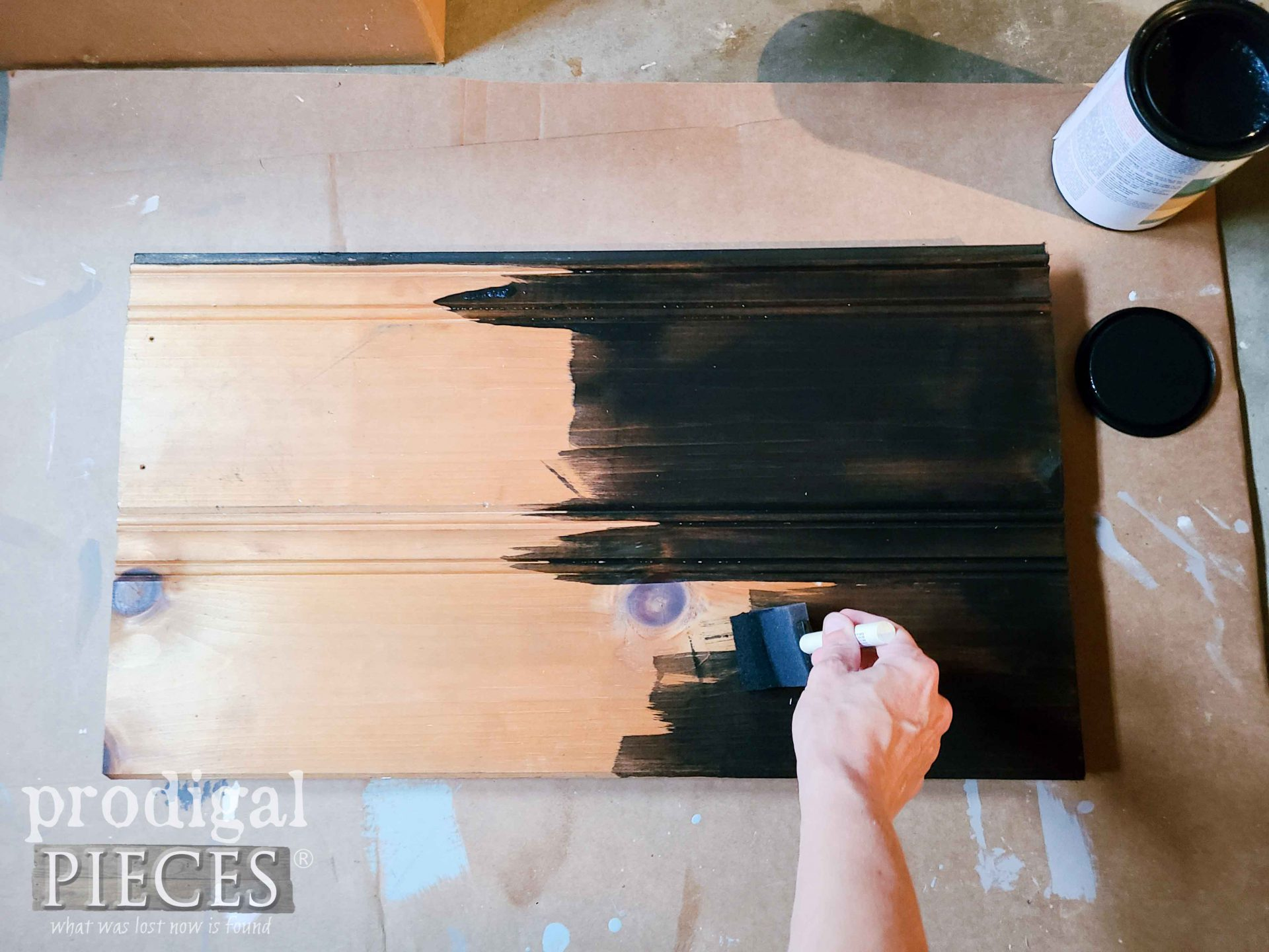 Staining Pine Siding with Charcoal Natural Reactive Stain by Prodigal Pieces | prodigalpieces.com