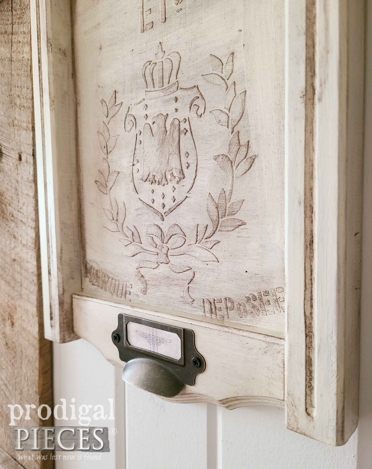DIY Stencil Embossing with Video Tutorial by Larissa of Prodigal Pieces | prodigalpieces.com #prodigalpieces #farmhouse #diy #emboss #crafts #art