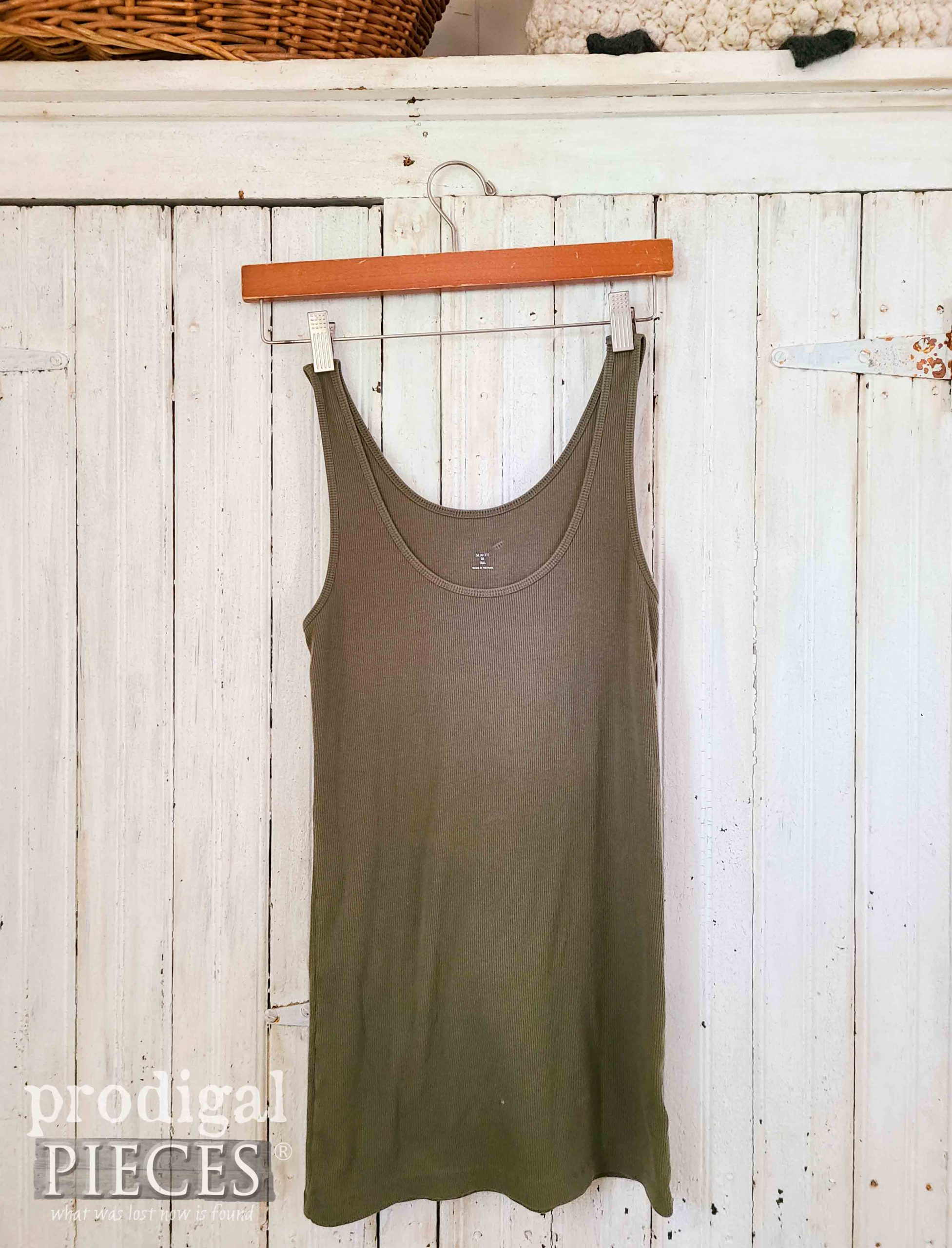 Tank Top Before Refashion into Compact Bag by Larissa of Prodigal Pieces   prodigalpieces.com