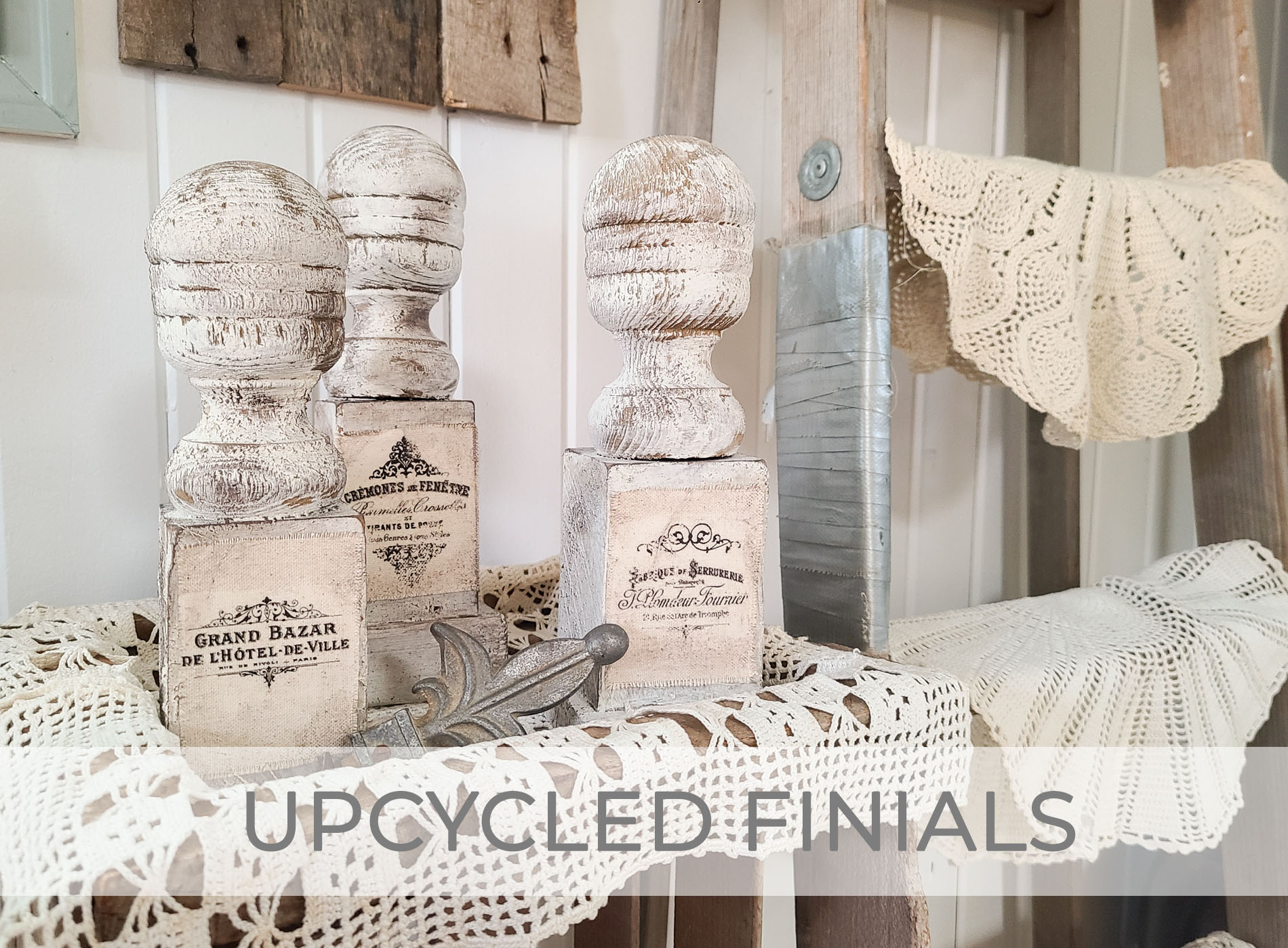 Antique Farmhouse Upcycled Finials by Prodigal Pieces | prodigalpieces.com #prodigalpieces