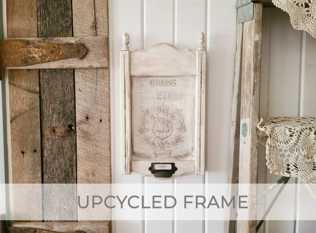 Upcycled Frame Tutorial with DIY Embossing by Larissa of Prodigal Pieces | prodigalpieces.com