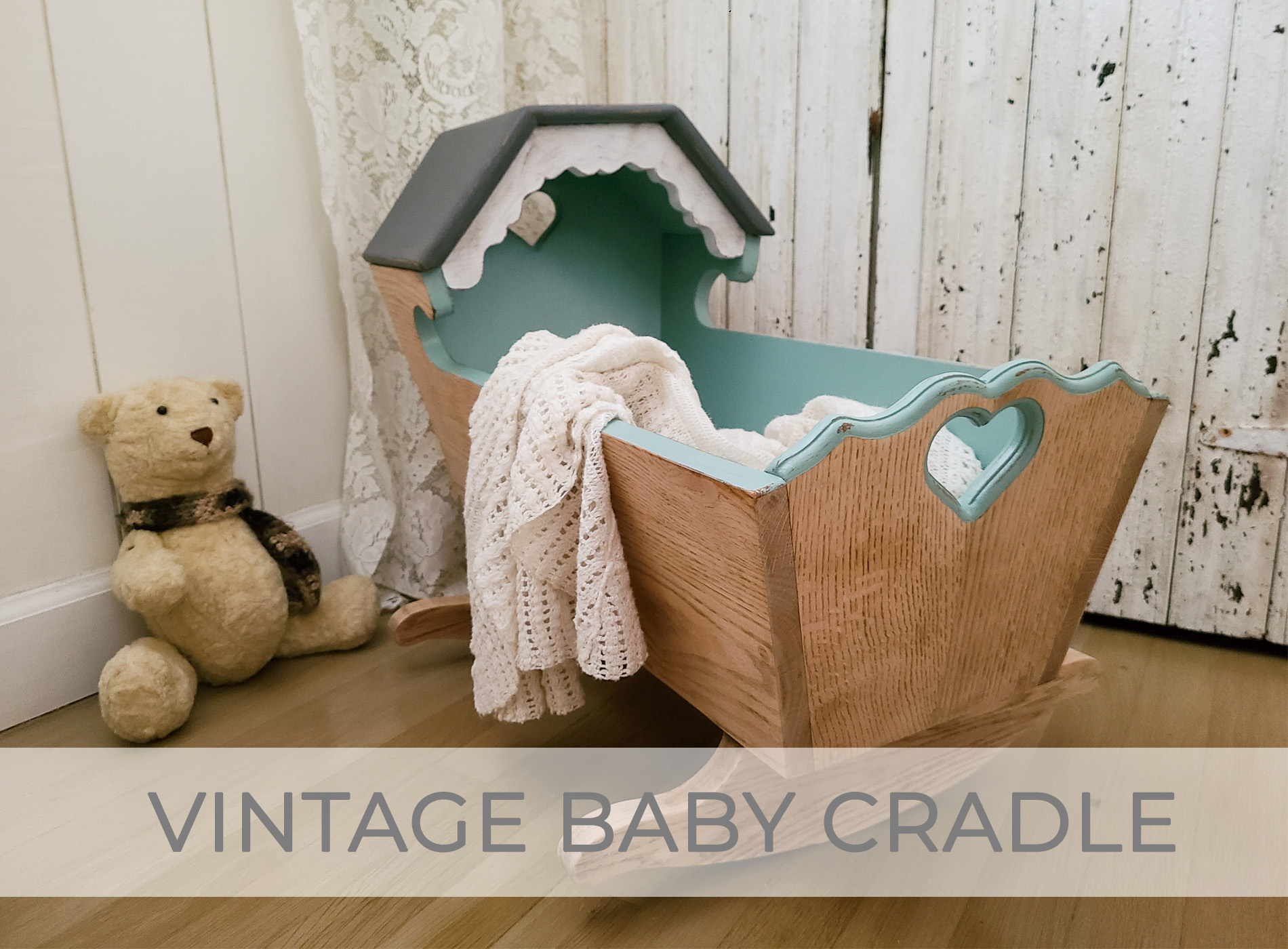Vintage Baby Cradle Makeover by Larissa of Prodigal Pieces | prodigalpieces.com #prodigalpieces