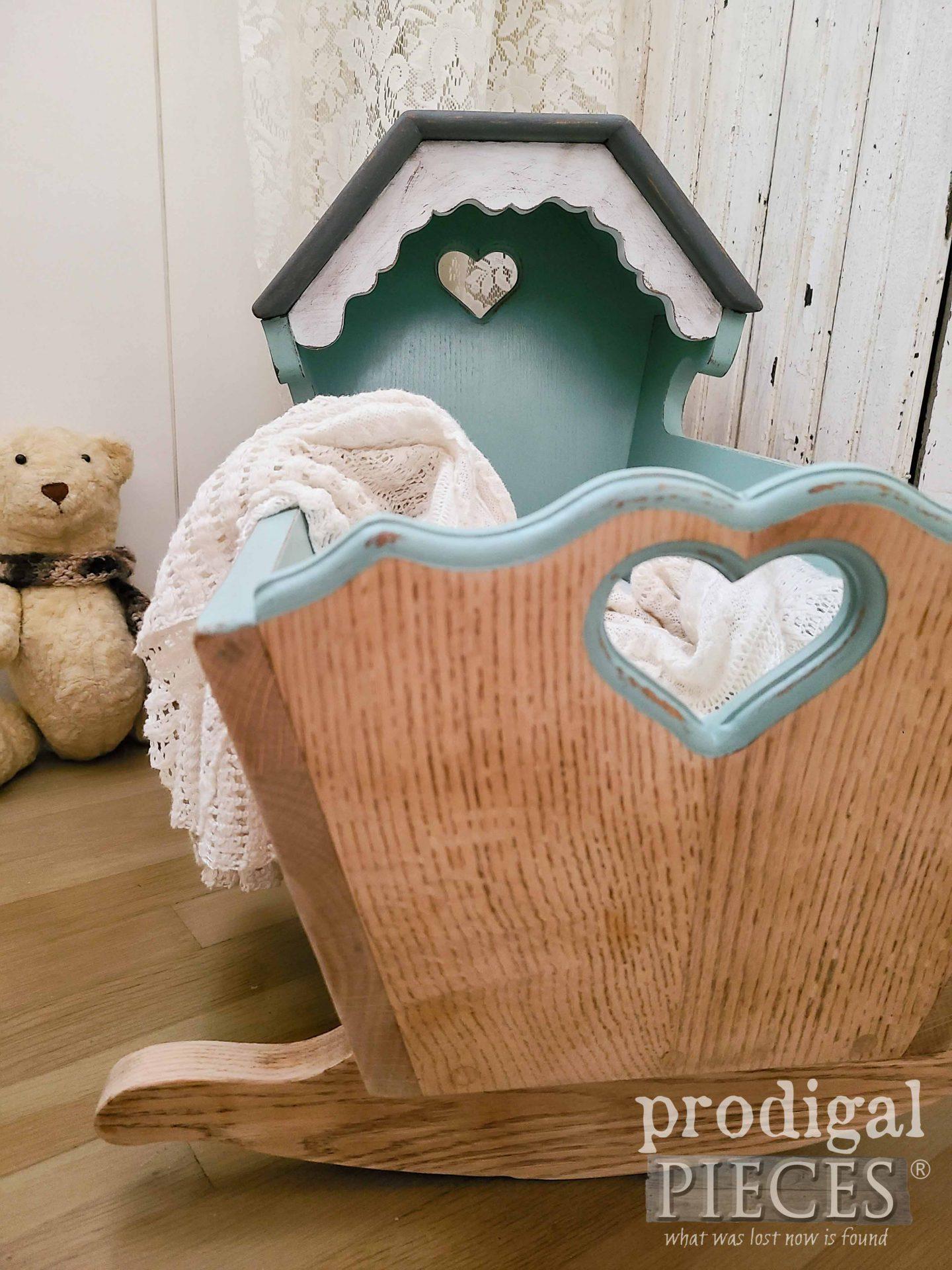 White Oak Baby Cradle Makeover by Larissa of Prodigal Pieces | prodigalpieces.com #prodigalpieces #baby #home #homedecor #diy