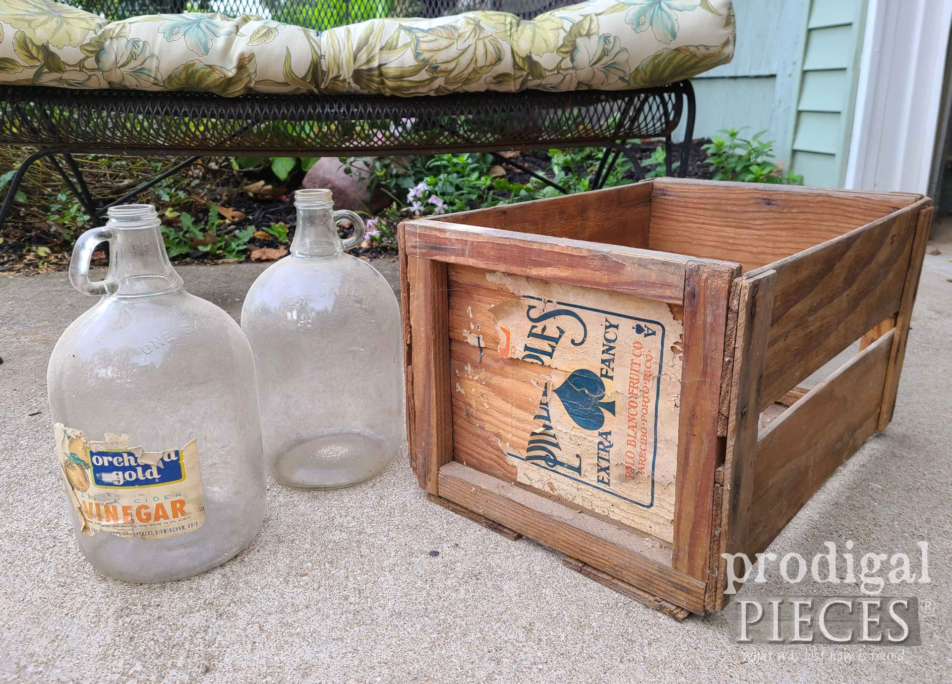Rustic Crate and Gallon Jars ~ Barn Finds   prodigalpieces.com