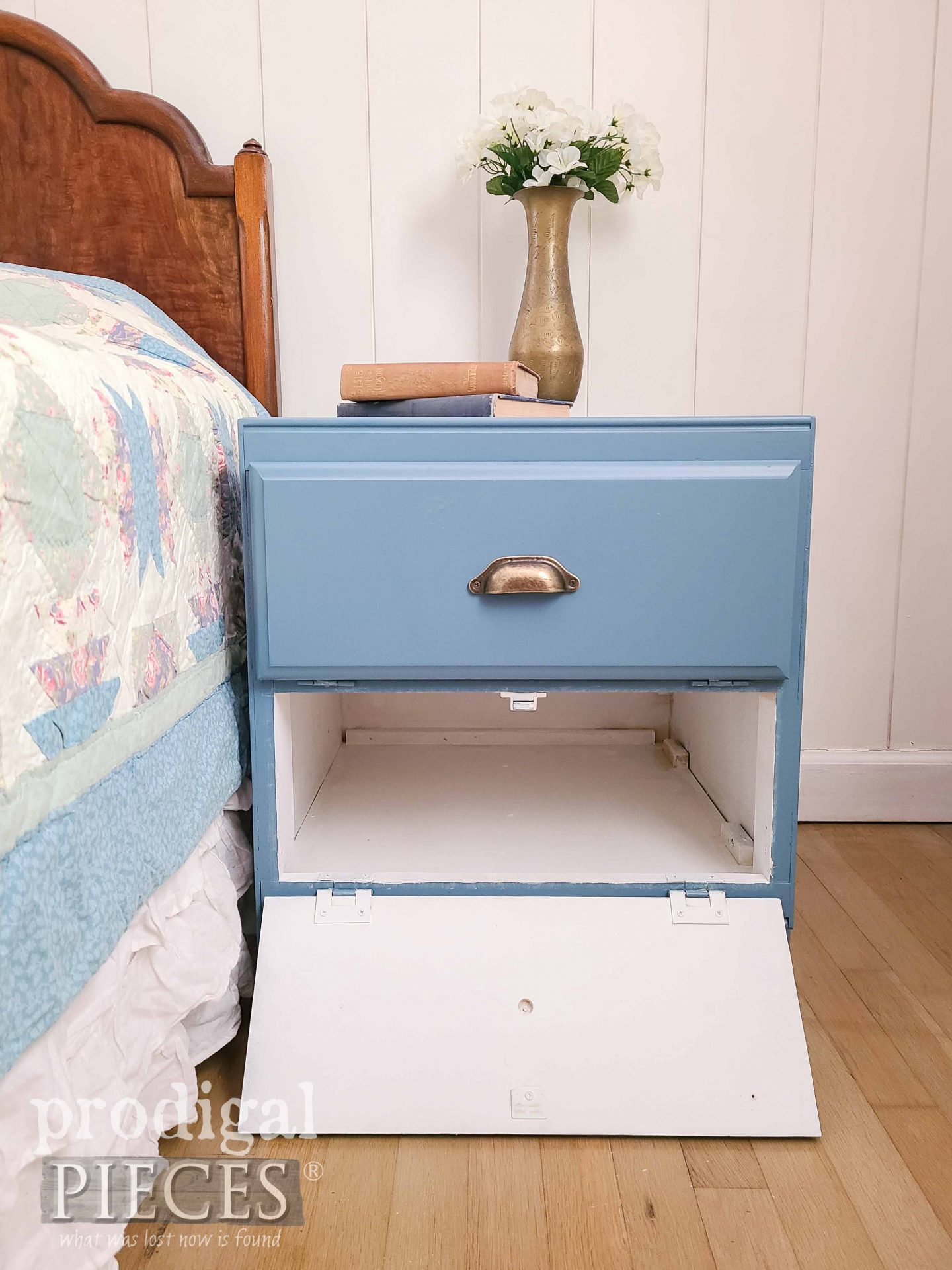 Bottom Open Vintage Cabinet Side Table by Larissa of Prodigal Pieces   prodigalpieces.com #prodigalpieces #furniture #home #diy #homedecor