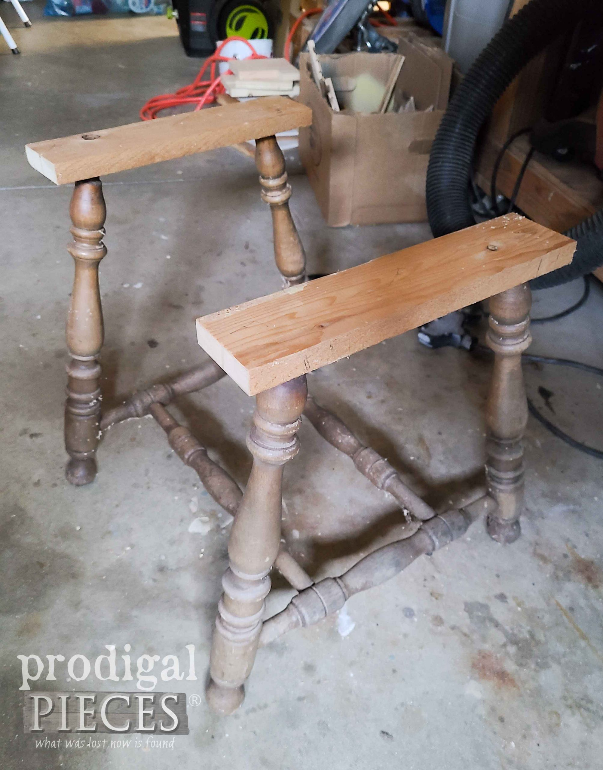 Upcycled Broken Chair Base Assembly | prodigalpieces.com