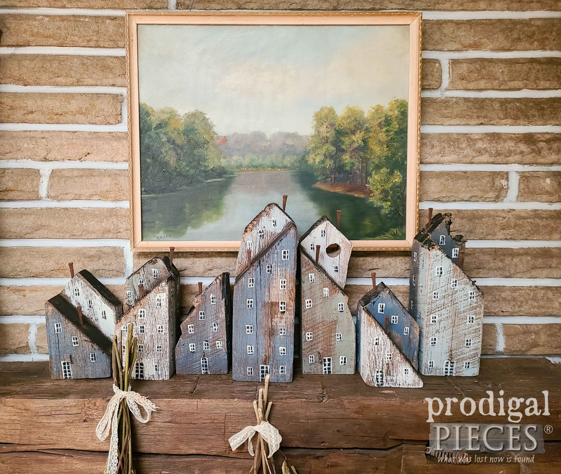 DIY Rustic Reclaimed Wood Houses Made from Barn Beam Scraps by Larissa of Prodigal Pieces | prodigalpieces.com #prodigalpieces #reclaimed #home #diy #farmhouse