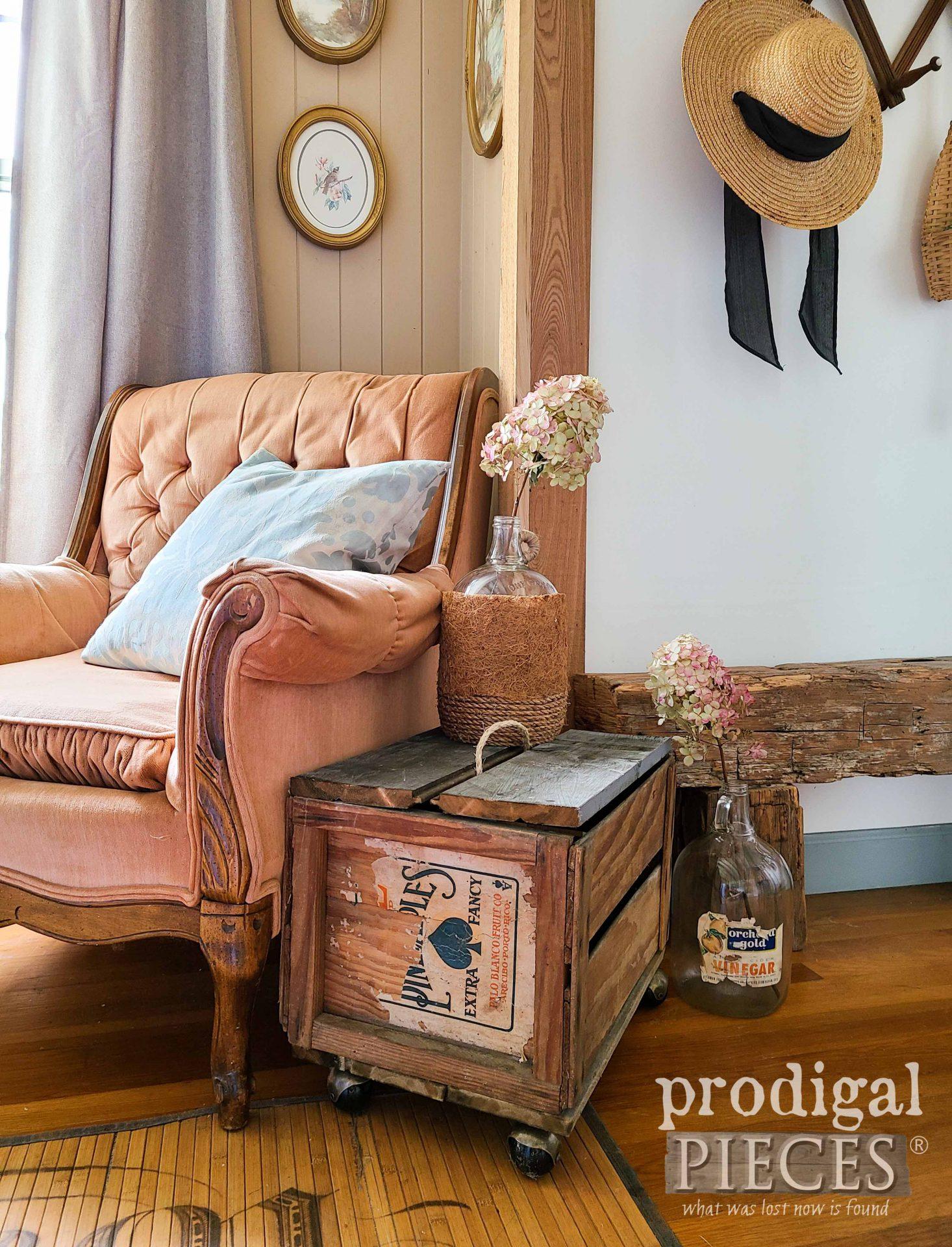 Farmhouse Living Room with Flea Market Decor by Larissa of Prodigal Pieces   prodigalpieces.com #prodigalpieces #farmhouse #fleamarket #home #homedecor #diy