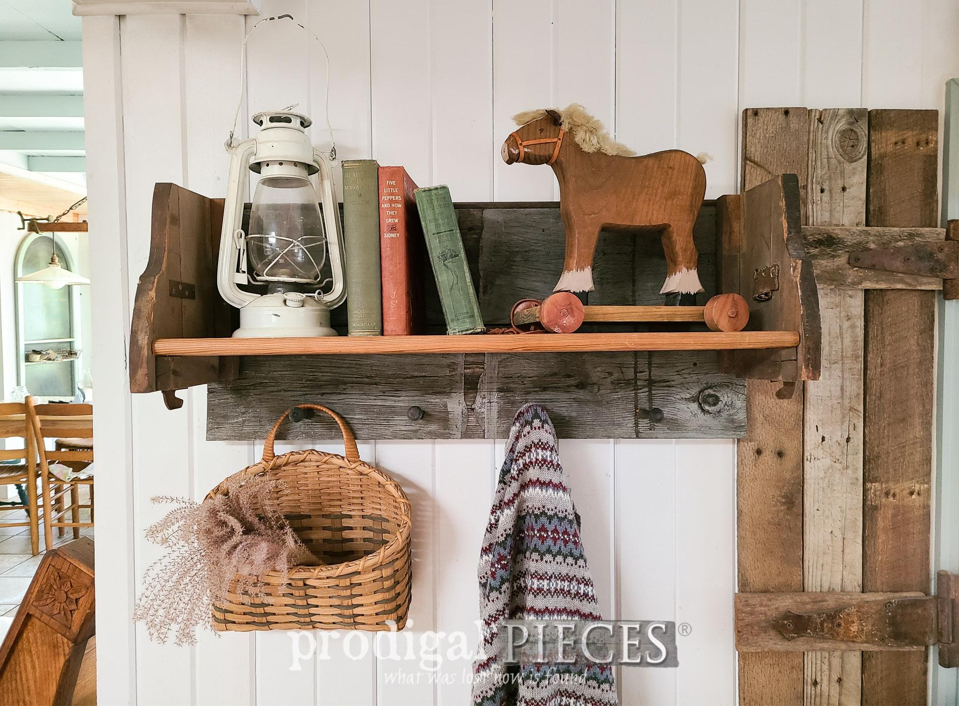 Featured Reclaimed Shelf Rack built by Larissa of Prodigal Pieces | prodigalpieces.com #prodigalpieces #diy #farmhouse #home #reclaimed #homedecor