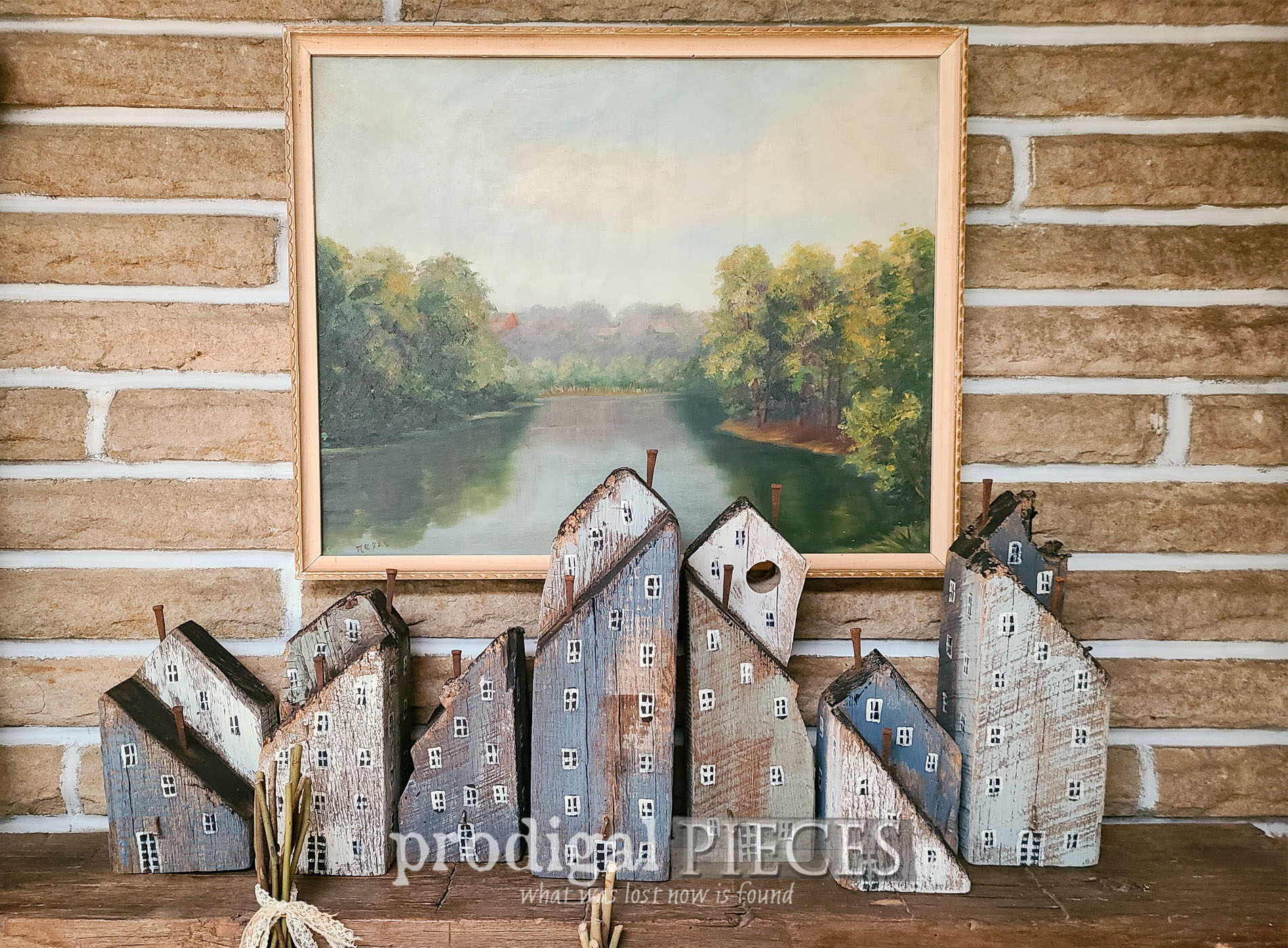 Featured Reclaimed Wood Houses from Old Barn Beams by Larissa of Prodigal Pieces | prodigalpieces.com #prodigalpieces #diy #farmhouse #reclaimed #handmade
