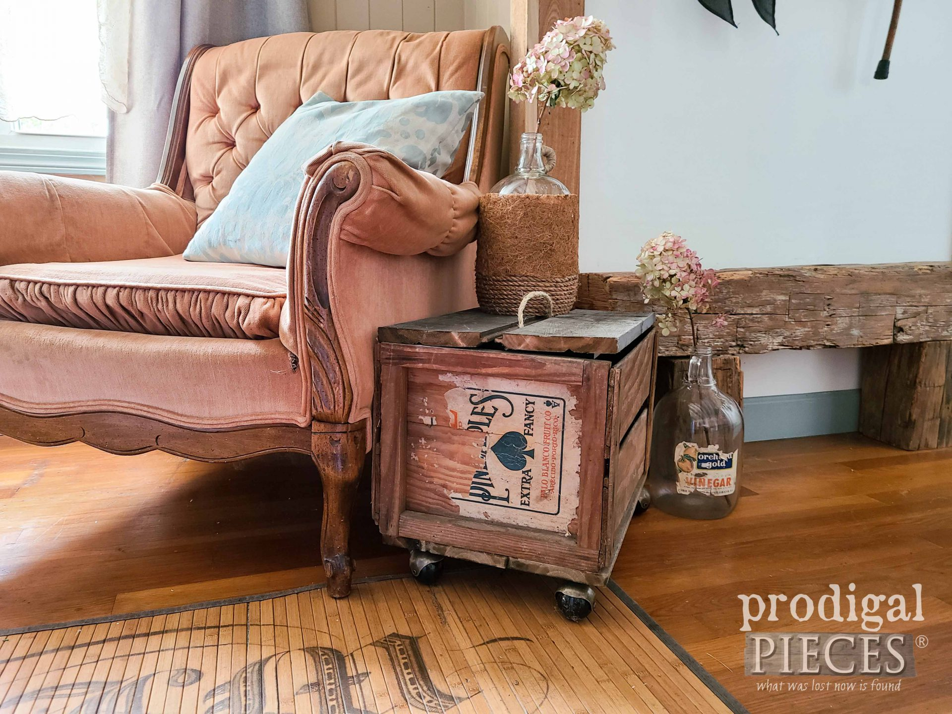 Flea Market Crate Table Made by Larissa of Prodigal Pieces   prodigalpieces.com #prodigalpieces #farmhouse #fleamarket #furniture #table