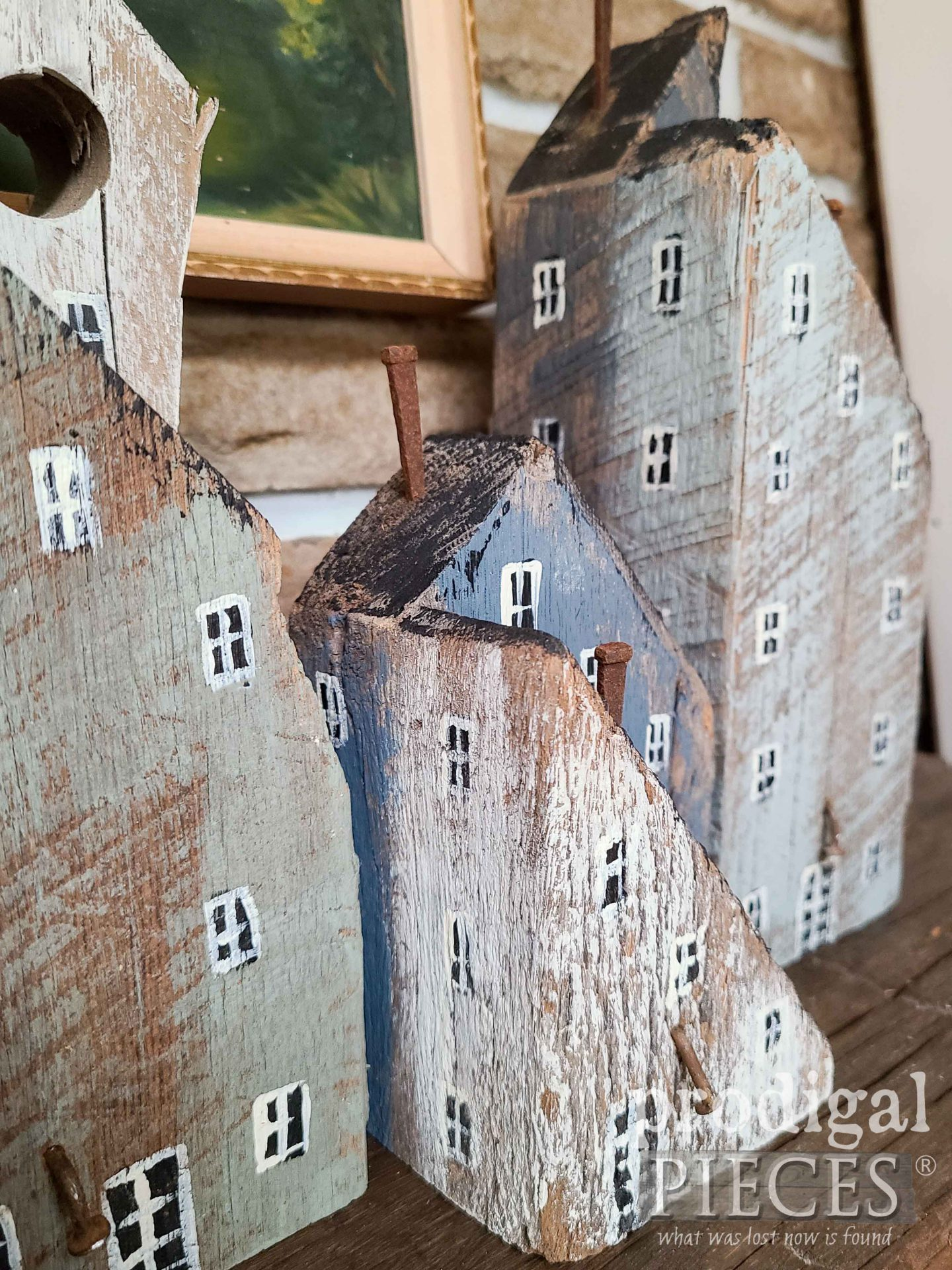Hand-Painted Farmhouse for Scandinavian Style Decor by Larissa of Prodigal Pieces | prodigalpieces.com #prodigalpieces #farmhouse #scandinavian #home