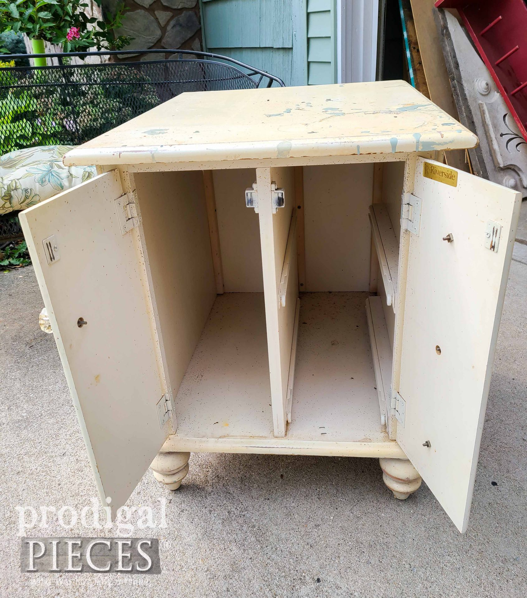 Inside Vintage Cabinet Side Table   prodigalpieces.com