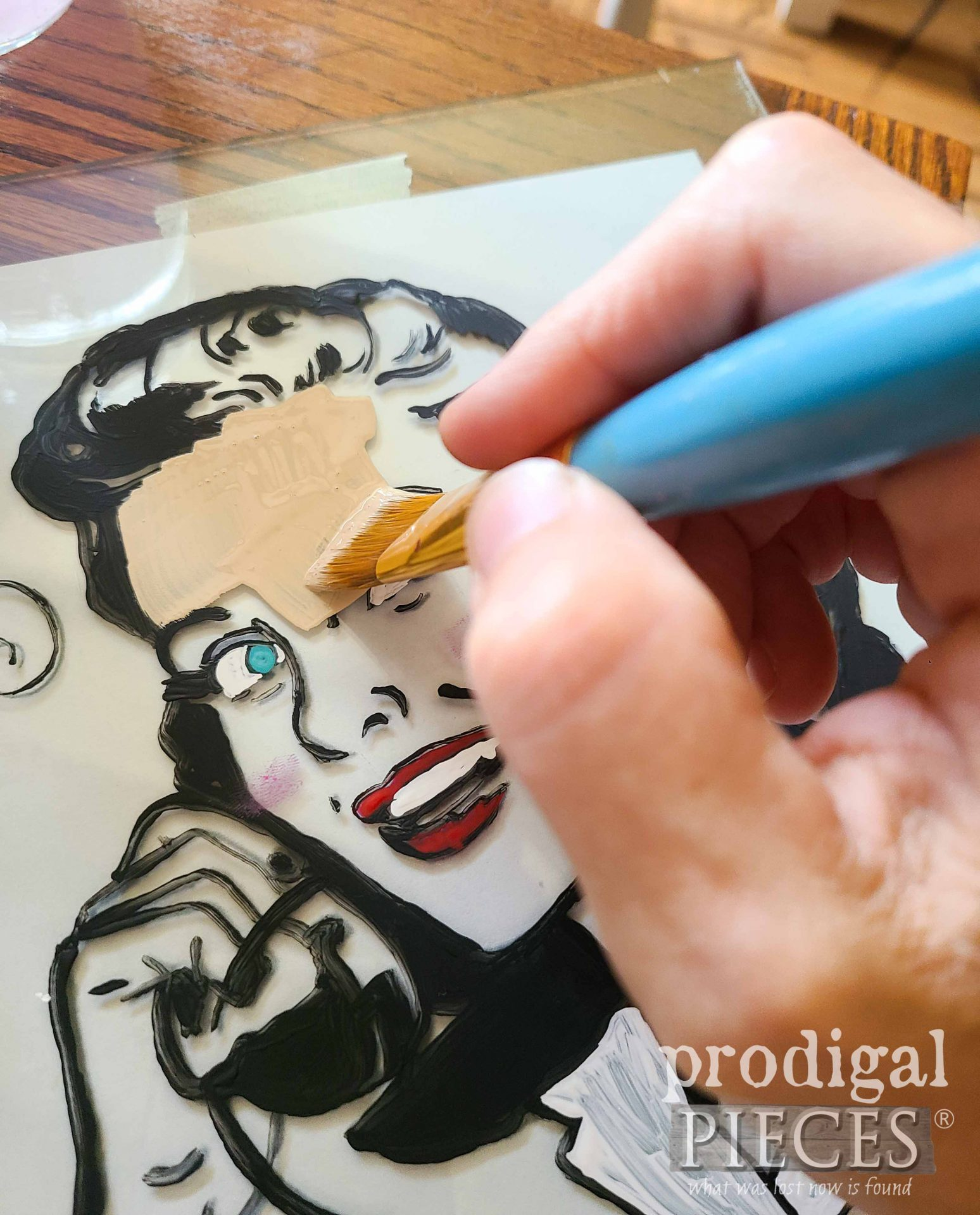 Painting Glass Tray in Reverse by Larissa of Prodigal Pieces | prodigalpieces.com #prodigalpieces
