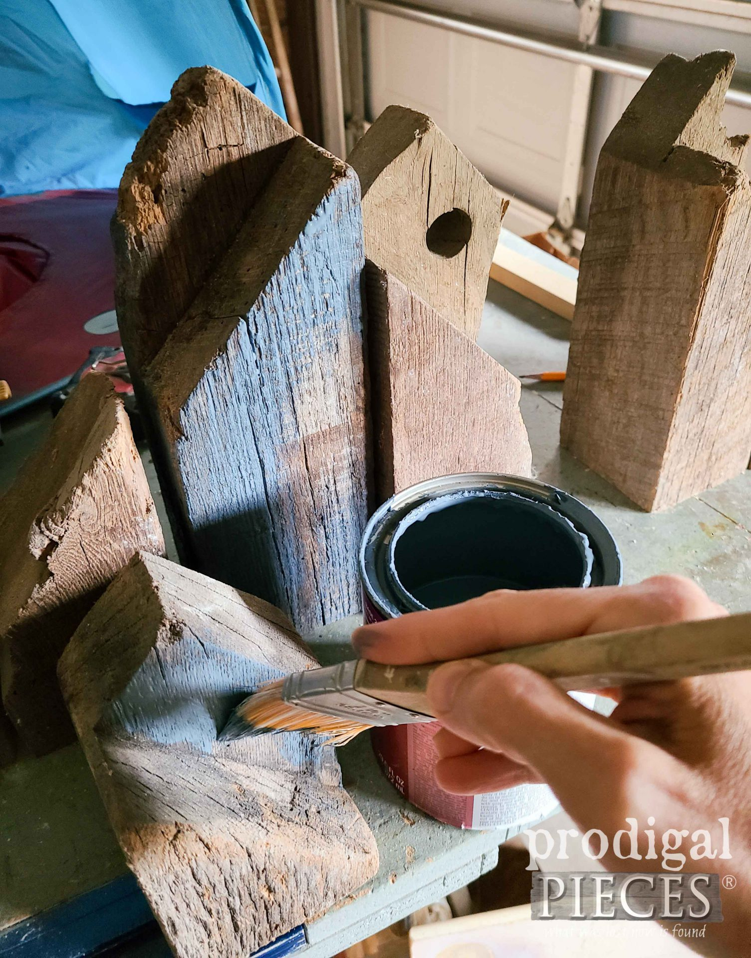 Painting Reclaimed Wood Houses | prodigalpieces.com #prodigalpieces