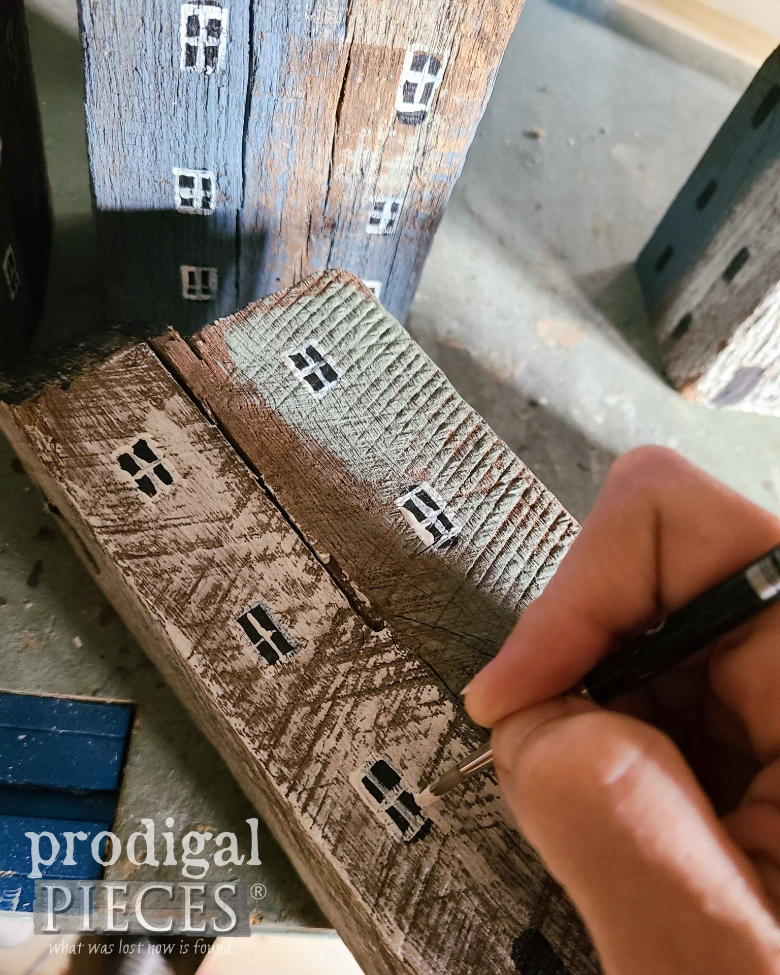Painting Windows on Reclaimed Wood Houses | prodigalpieces.com