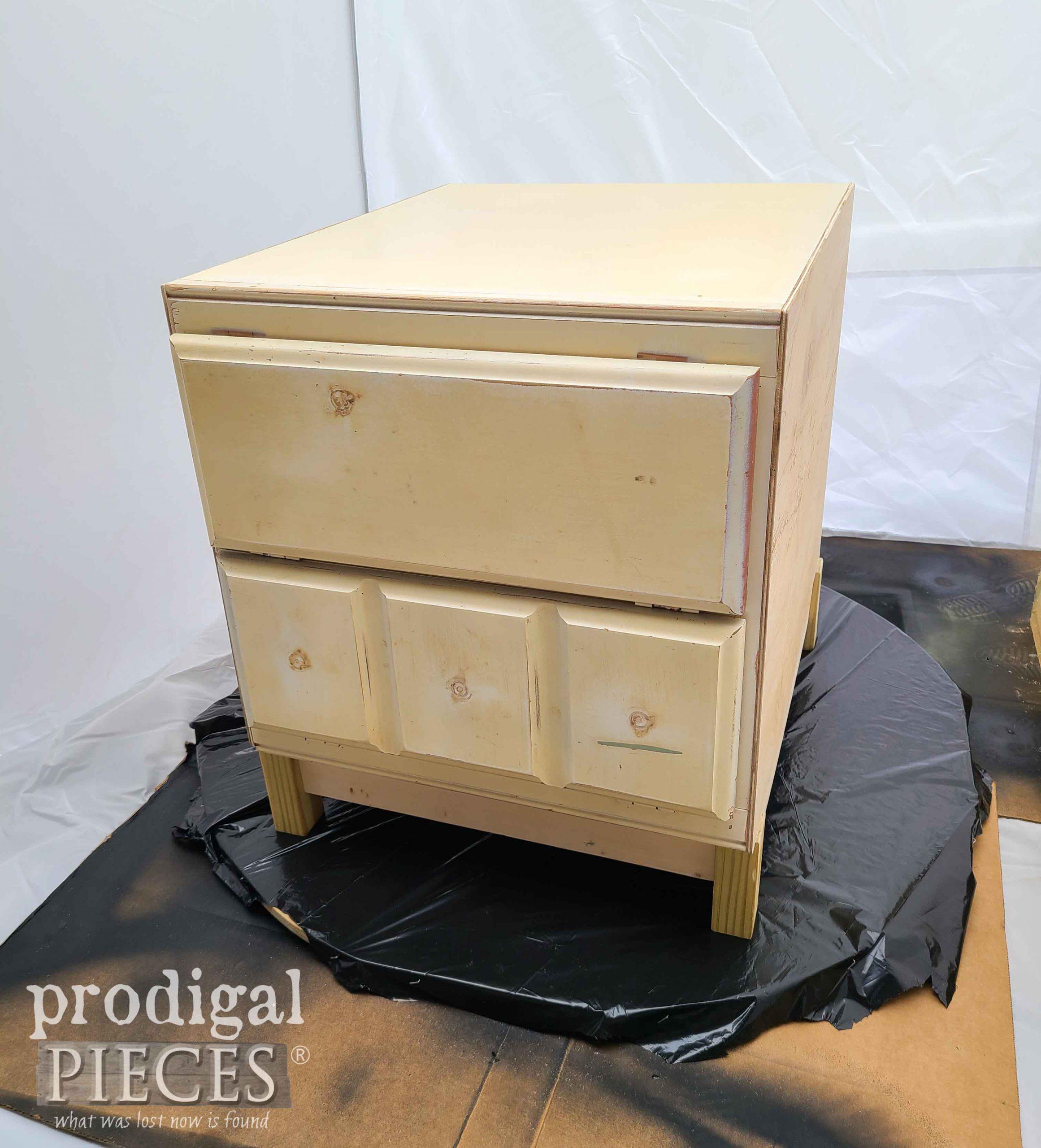Rebuilt Vintage Cabinet Side Table Before   prodigalpieces.com