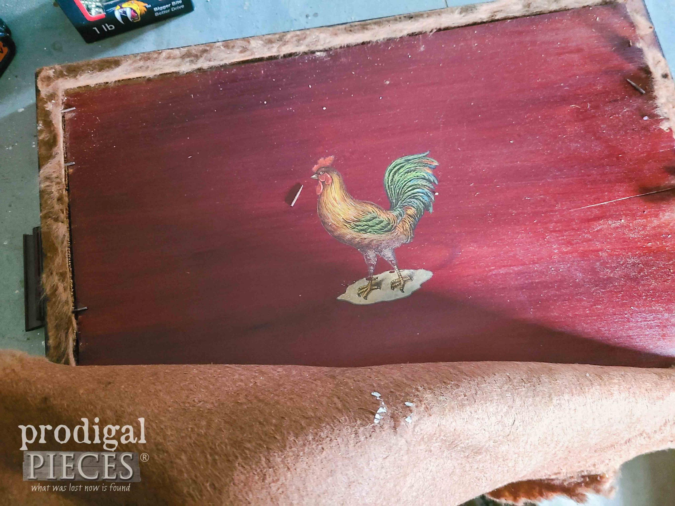 Rooster on Tray Back for Reverse Painting | prodigalpieces.com