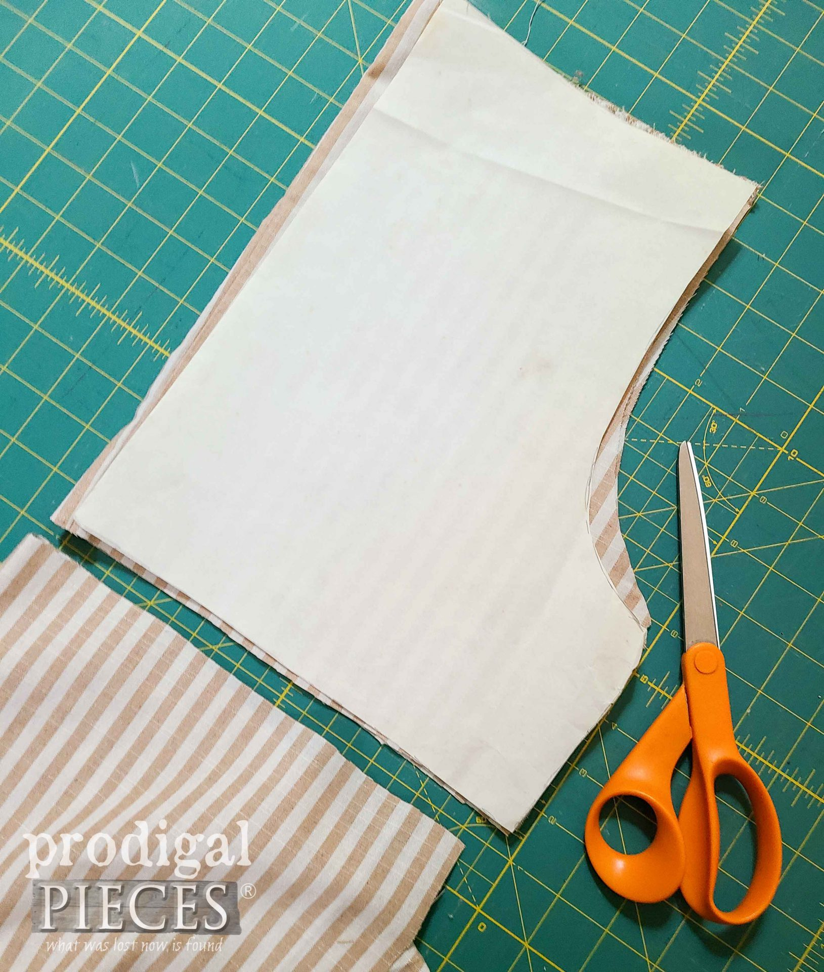 Refashioned Pants Cut into Sleeves for Ladies' Smocked Blouse | prodigalpieces.com