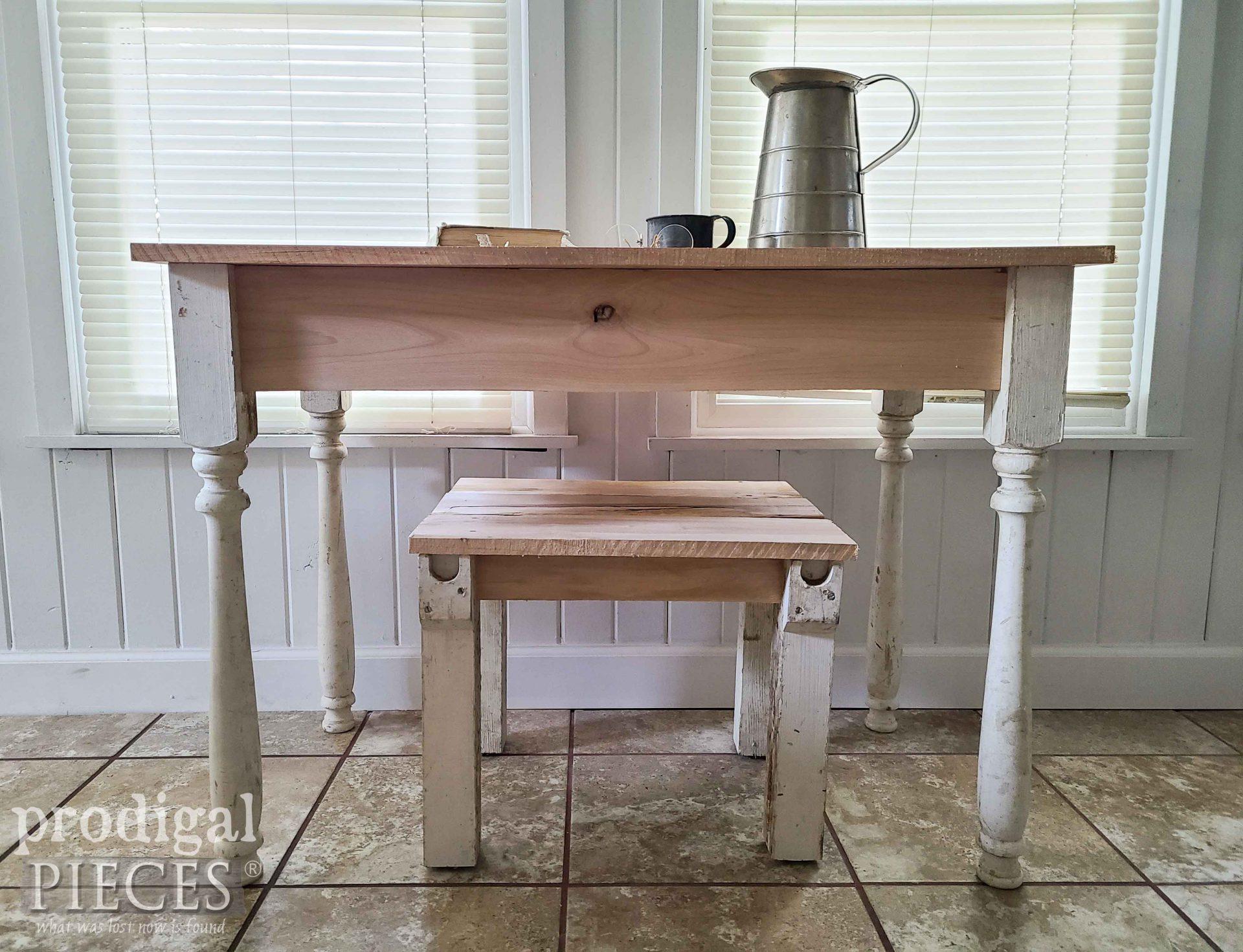 Rustic Desk Set Built with Reclaimed Wood by Larissa of Prodigal Pieces | prodigalpieces.com #prodigalpieces #furniture #desk #home