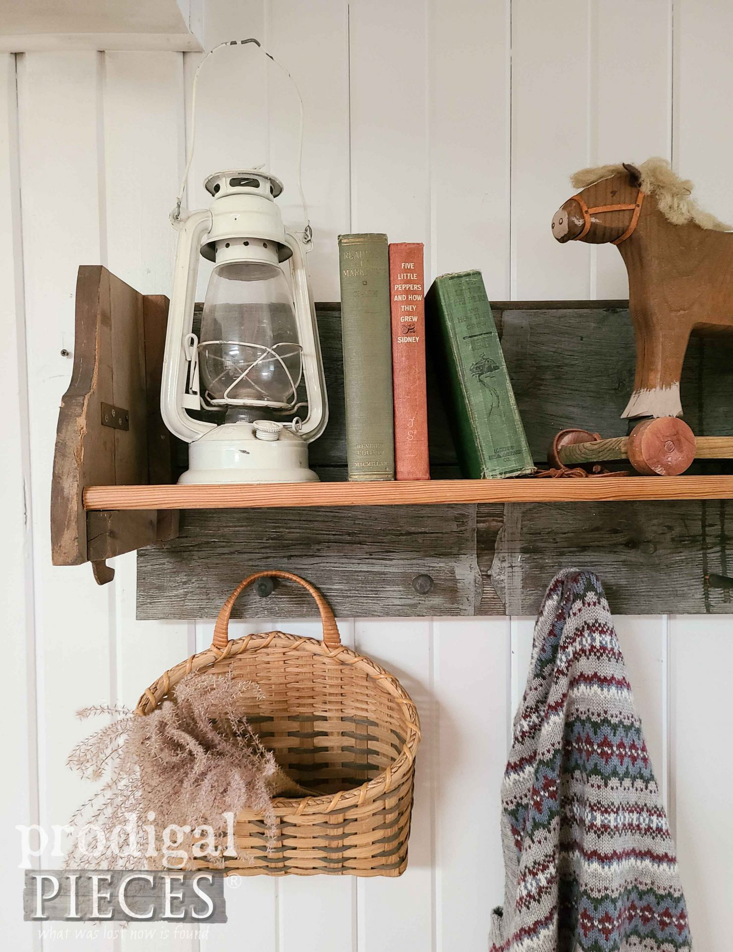 DIY Build Reclaimed Shelf Rack for Rustic Farmhouse Style by Larissa of Prodigal Pieces   prodigalpieces.com #prodigalpieces #farmhouse #diy #woodworking