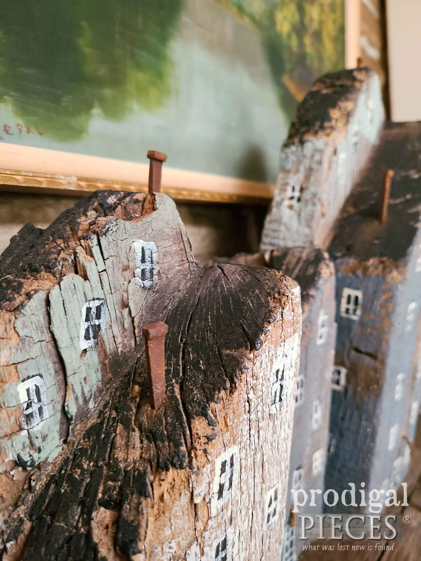 Rusty Nail Chimney on Reclaimed Barn Wood Houses by Larissa of Prodigal Pieces | prodigalpieces.com #prodigalpieces #farmhouse #scandi