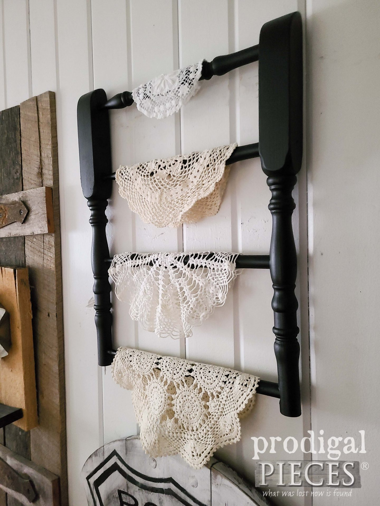 Side View Spindle Shelf by Larissa of Prodigal Pieces | prodigalpieces.com #prodigalpieces #farmhouse #diy #home #repurposed