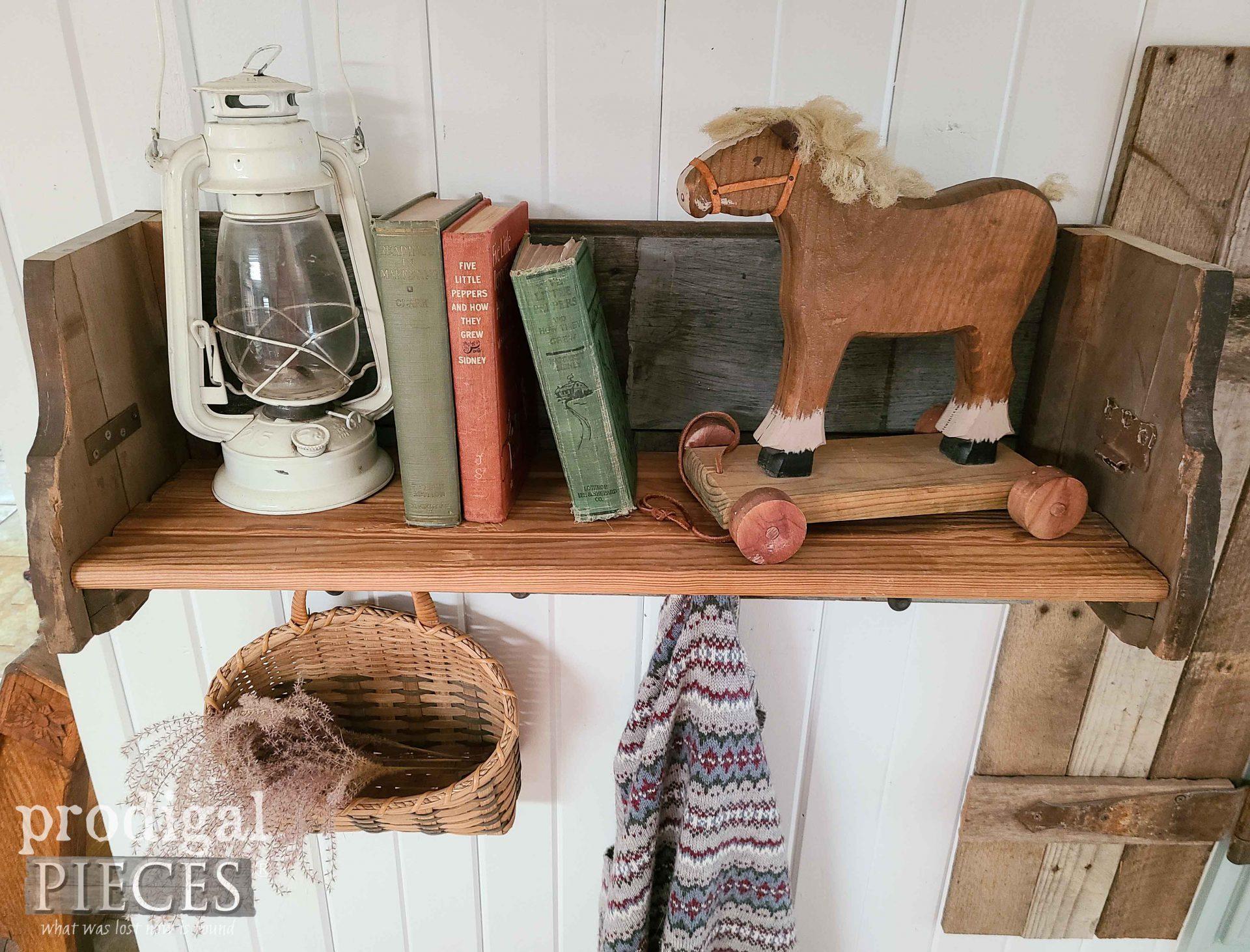Top View Reclaimed Shelf Rack by Larissa of Prodigal Pieces   prodigalpieces.com #prodigalpieces #home #homedecor #farmhouse #diy