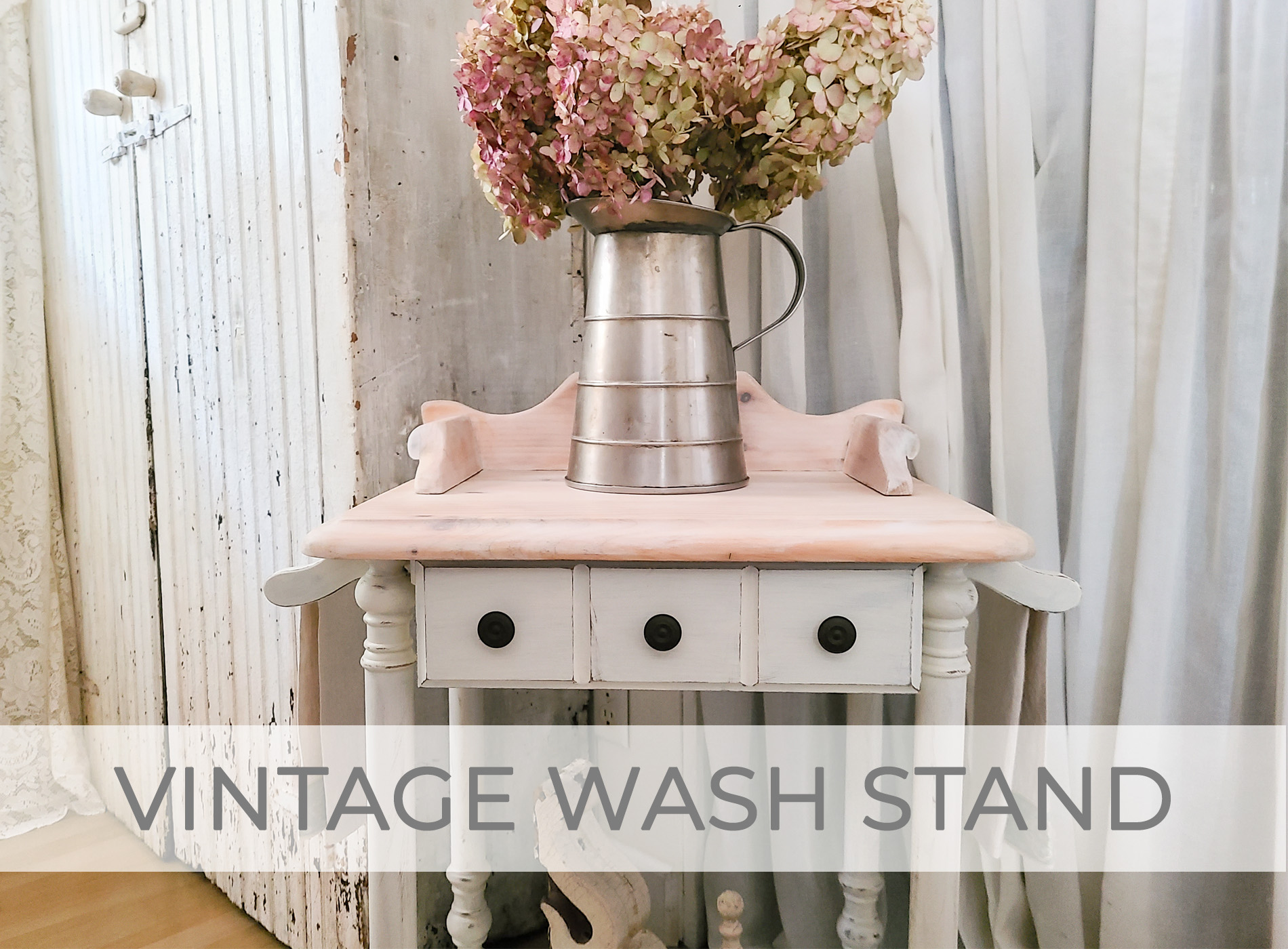 Vintage Wash Stand Makeover by Larissa of Prodigal Pieces   prodigalpieces.com #prodigalpieces