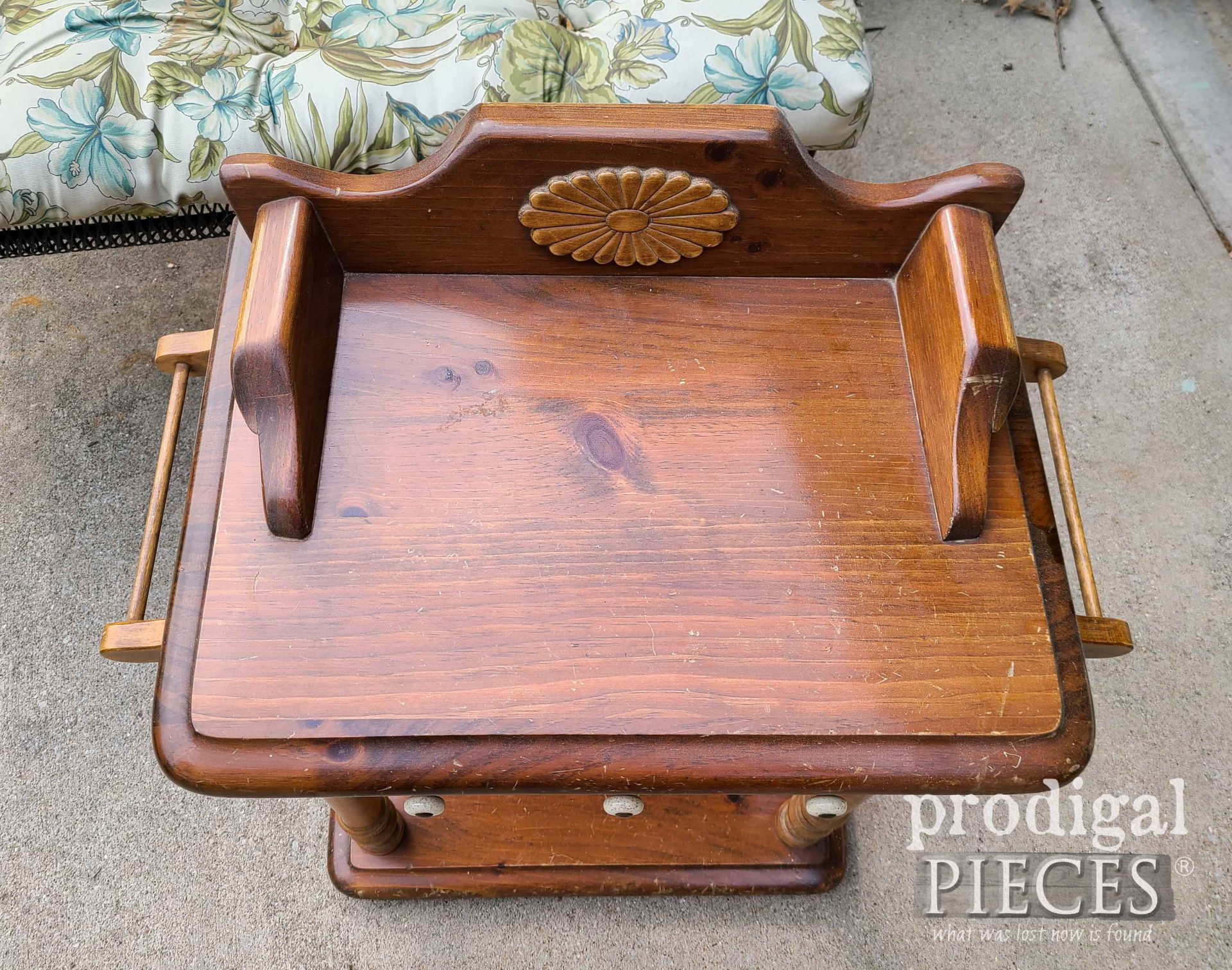 Vintage Wash Stand Top Before | prodigalpieces.com
