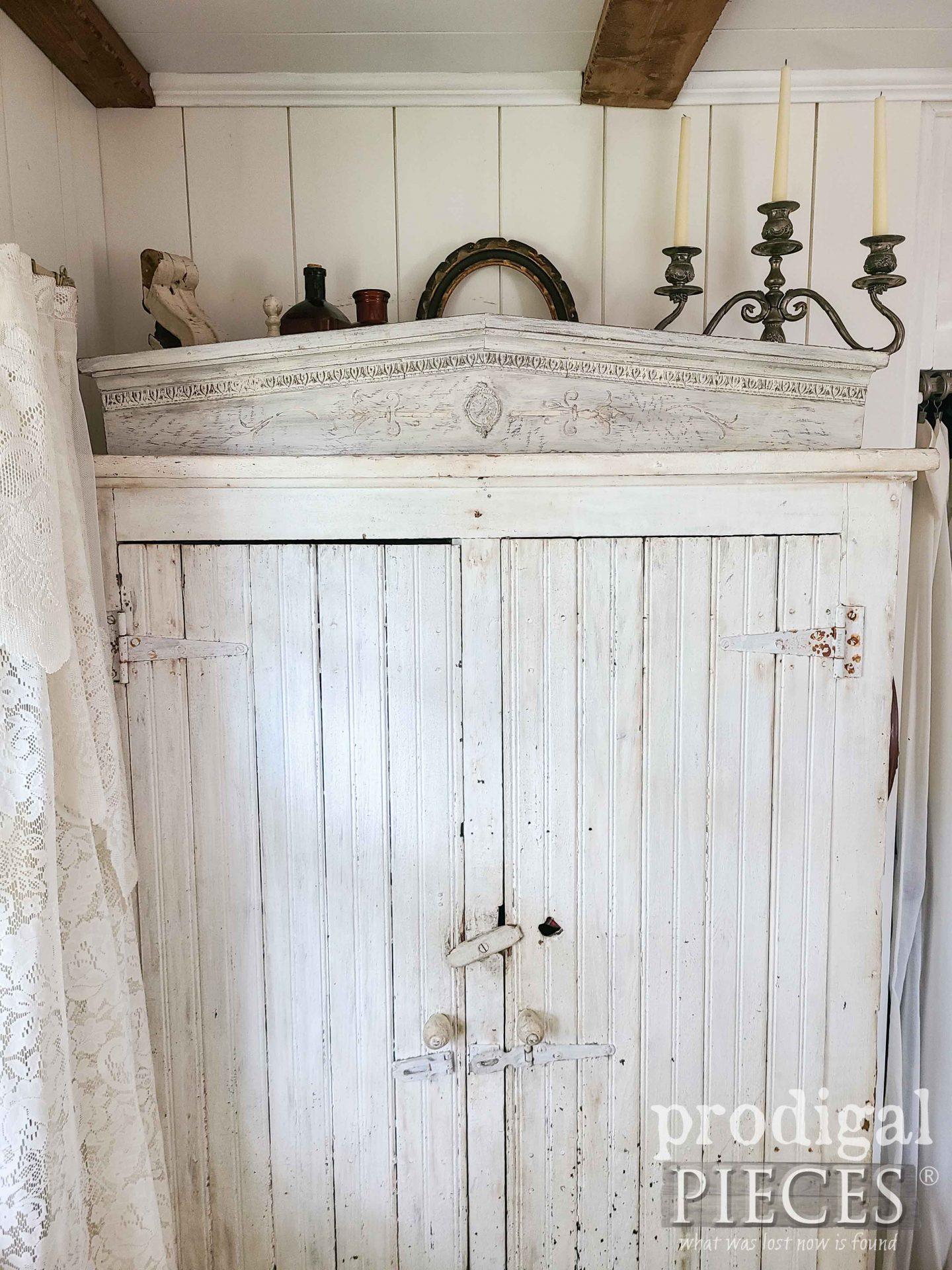 Antique Cupboard with Farmhouse Pediment by Larissa of Prodigal Pieces | prodigalpieces.com #prodigalpieces #farmhouse #diy