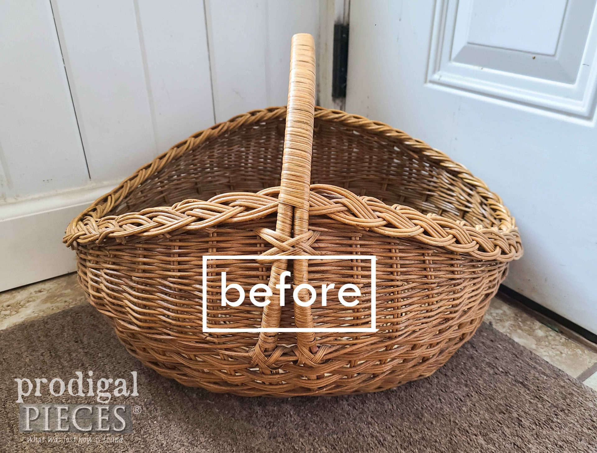 Before of Thrifted Basket | prodigalpieces.com