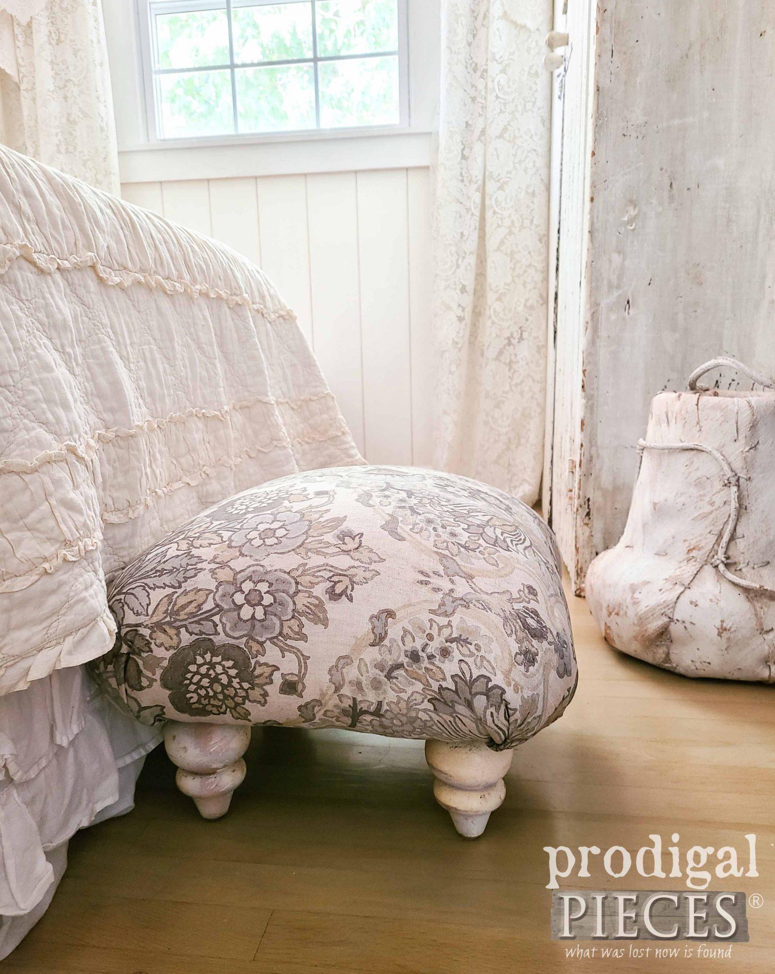 Linen Bedroom Ottoman Handmade by Larissa of Prodigal Pieces | prodigalpieces.com #prodigalpieces #linen #handmade #diy