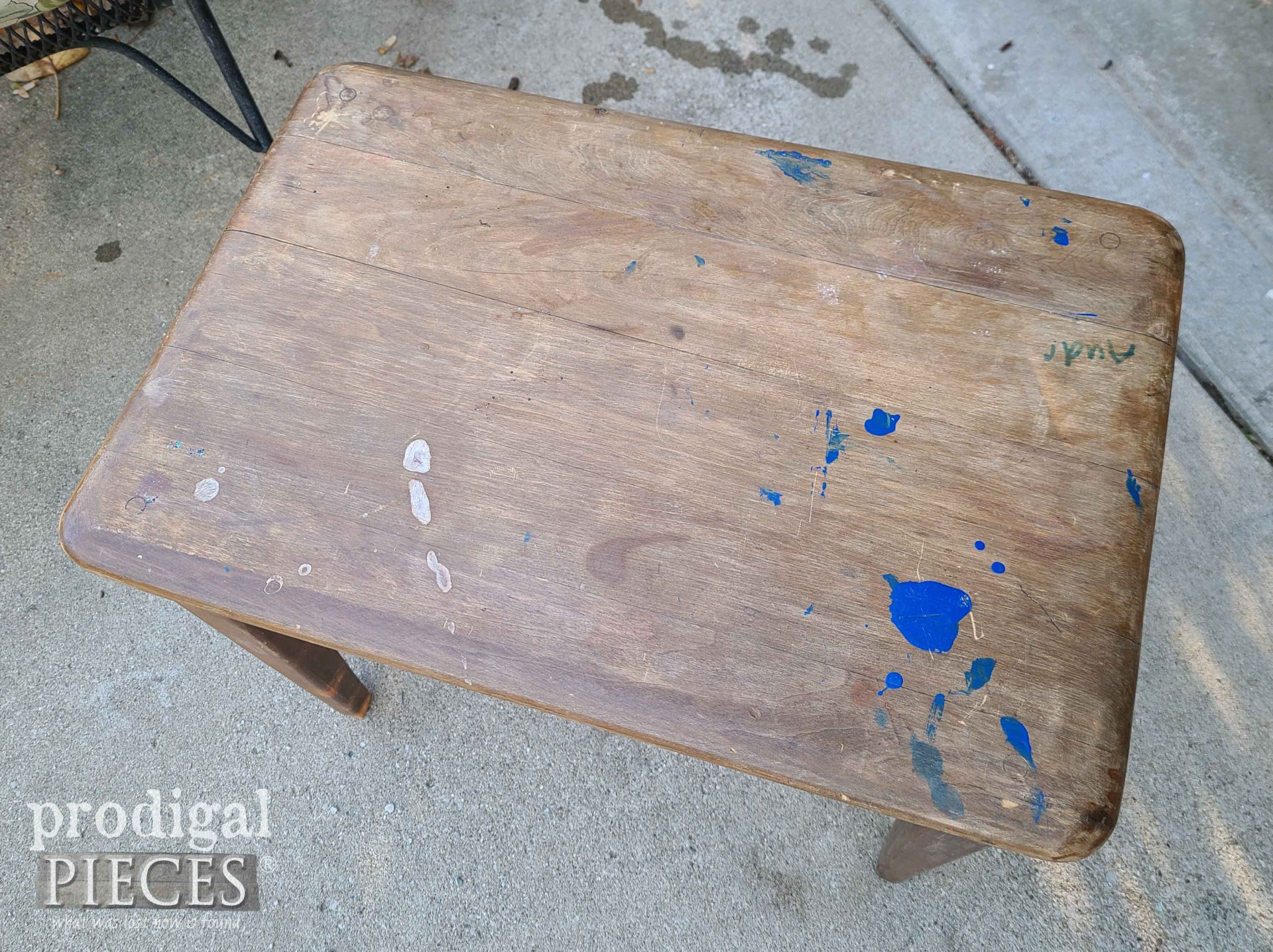 Mid Century Modern Bench Top Before | prodigalpieces.com