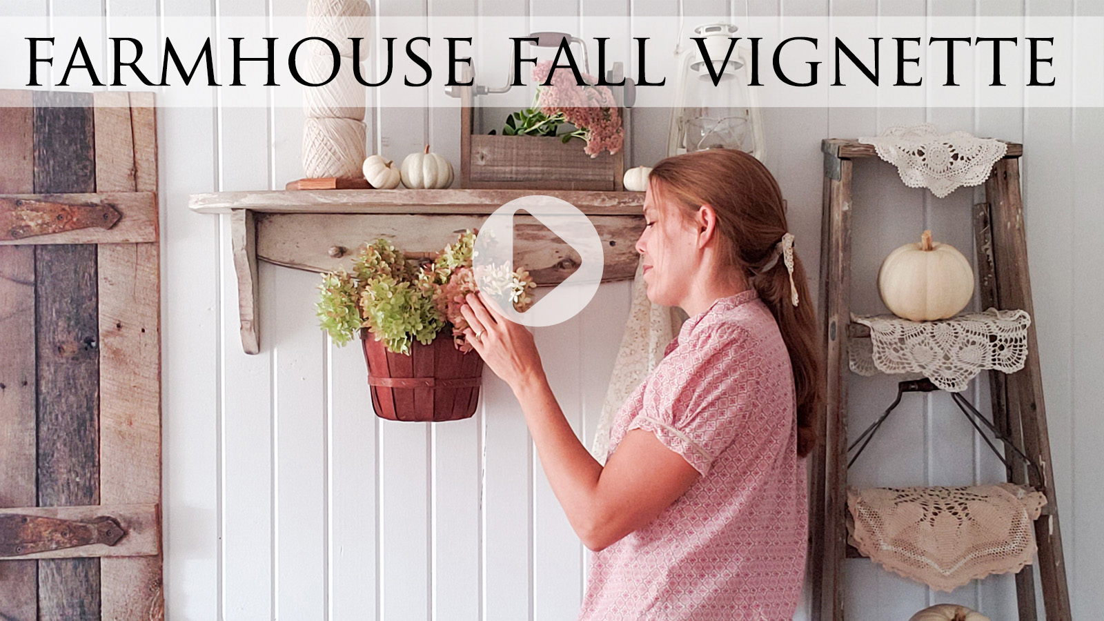 Create a Farmhouse Fall Vignette with Thrifted Finds by Larissa of Prodigal Pieces | prodigalpieces.com #prodigalpieces
