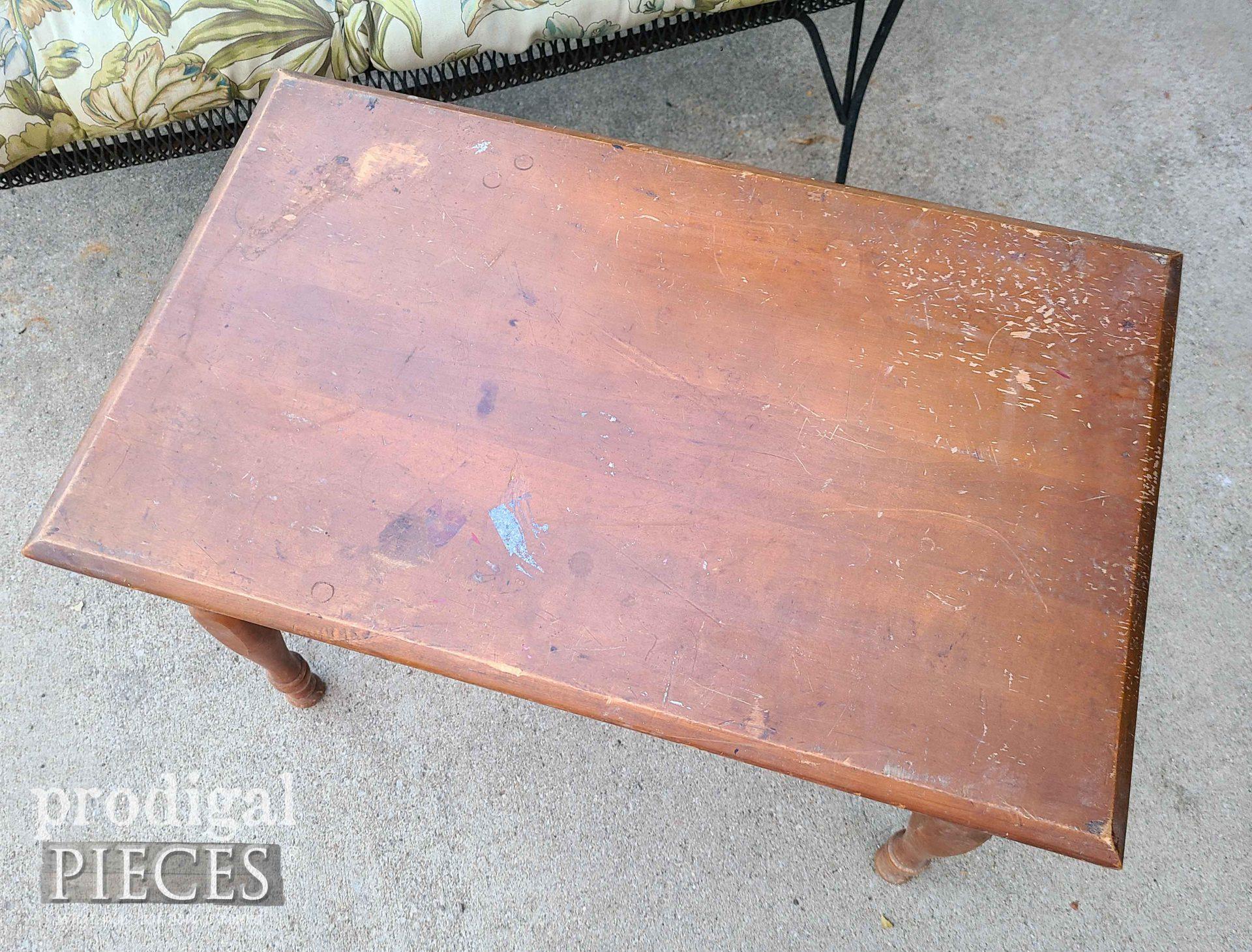 Damaged Vintage Table Top | prodigalpieces.com
