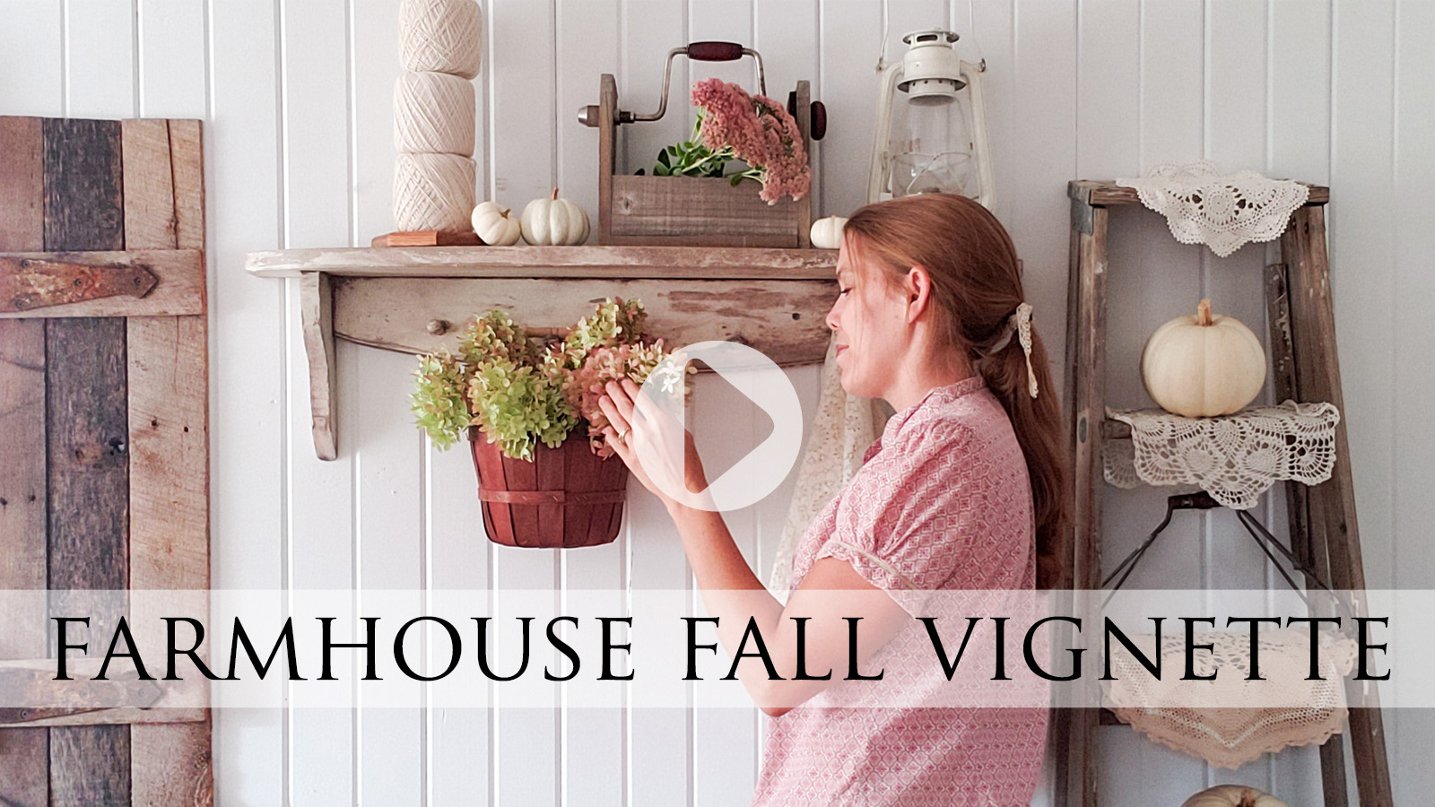 DIY Farmhouse Fall Vignette from Thrifted Finds by Larissa of Prodigal Pieces | prodigalpieces.com #prodigalpieces