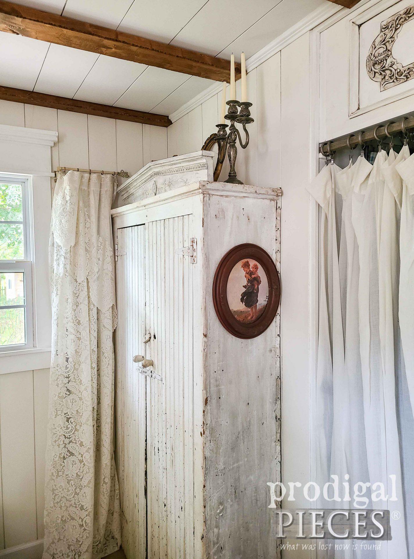 Antique Farmhouse Cupboard with Pediment by Larissa of Prodigal Pieces | prodigalpieces.com #prodigalpieces #famhouse #antique #diy #home