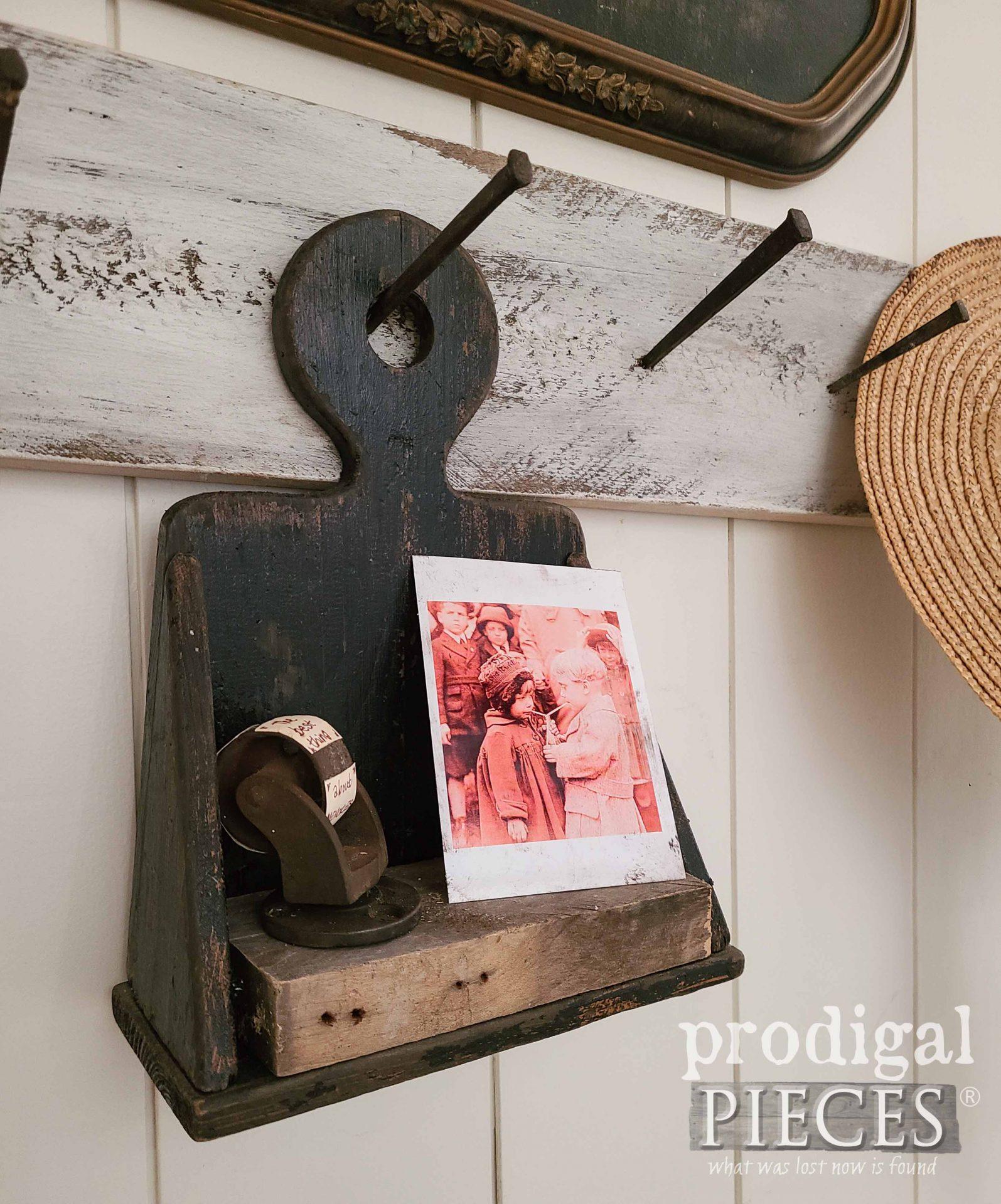 Rustic Chic Farmhouse Memory Shelf for Home Decor by Prodigal Pieces   prodigalpieces.com #prodigalpieces #farmhouse