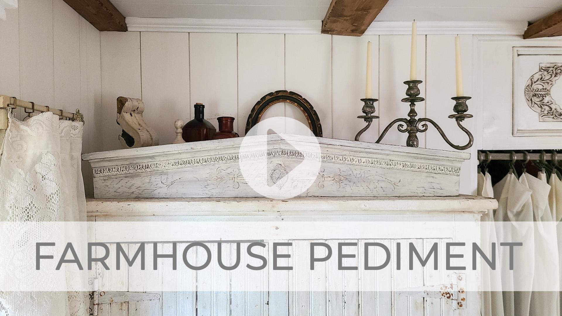 DIY Farmhouse Pediment Tutorial Video by Larissa of Prodigal Pieces | prodigalpieces.com #prodigalpieces