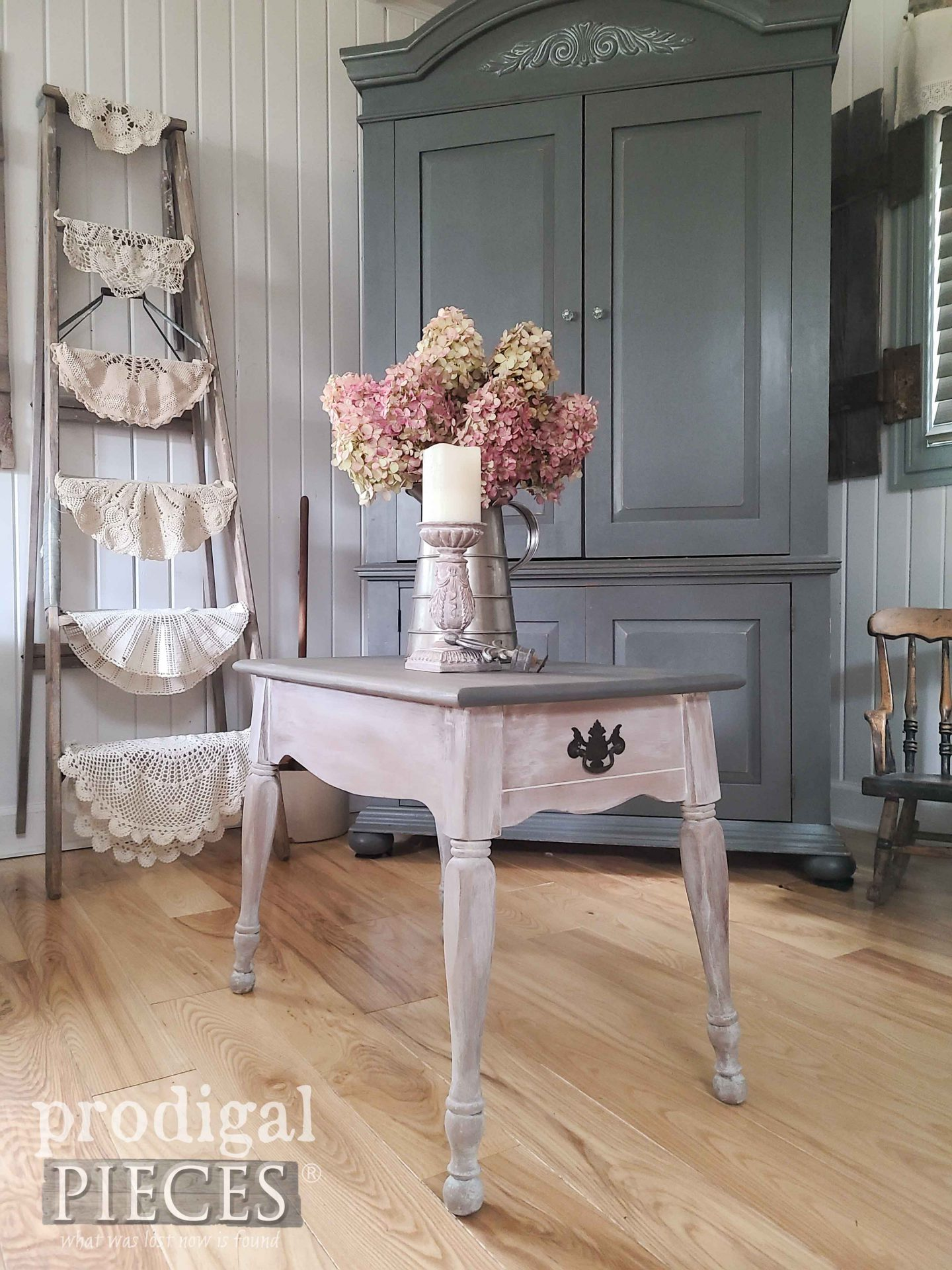 Vintage Farmhouse Table Makeover with DIY Steps by Larissa of Prodigal Pieces | prodigalpieces.com #prodigalpieces #furniture #home #vintage #farmhouse