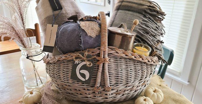 Harvest Gift Basket ~ Makeover & Lining