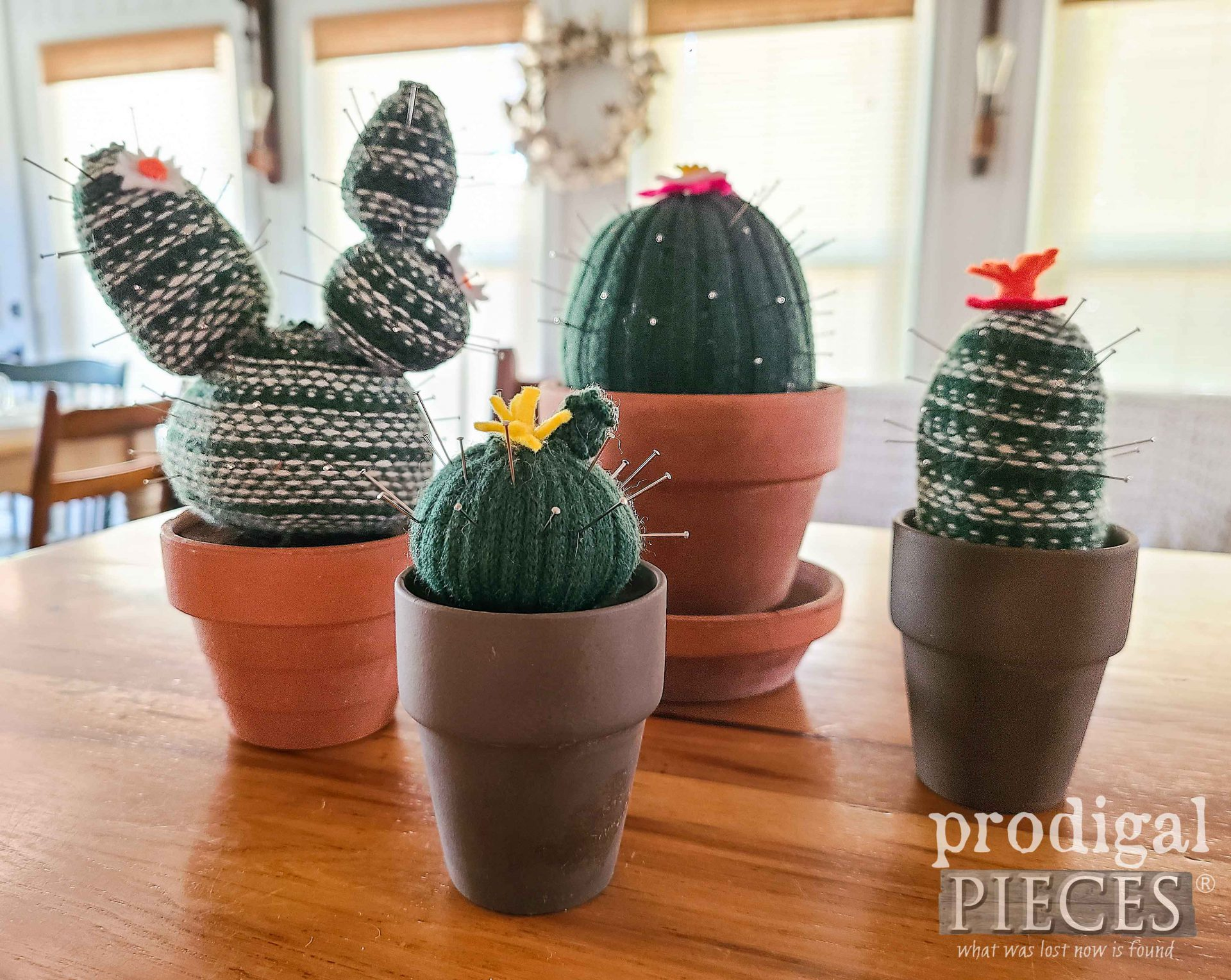 DIY Handmade Cactus Pincushion Created from Upcycled Sweater by Larissa of Prodigal Pieces | prodigalpieces.com #prodigalpieces #handmade #diy #crafts #succulent #giftidea