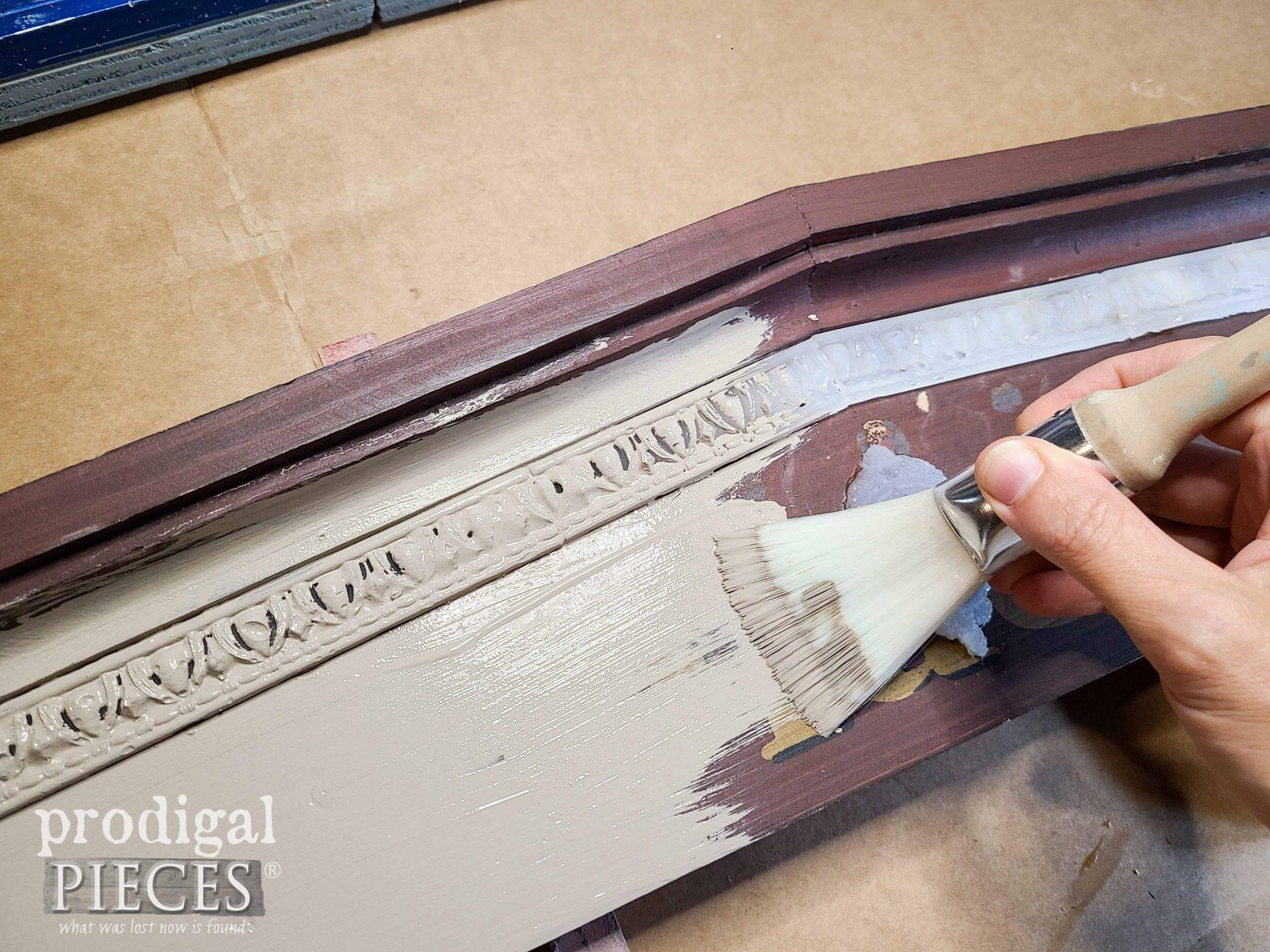 Painting Pediment with Base Color | prodigalpieces.com
