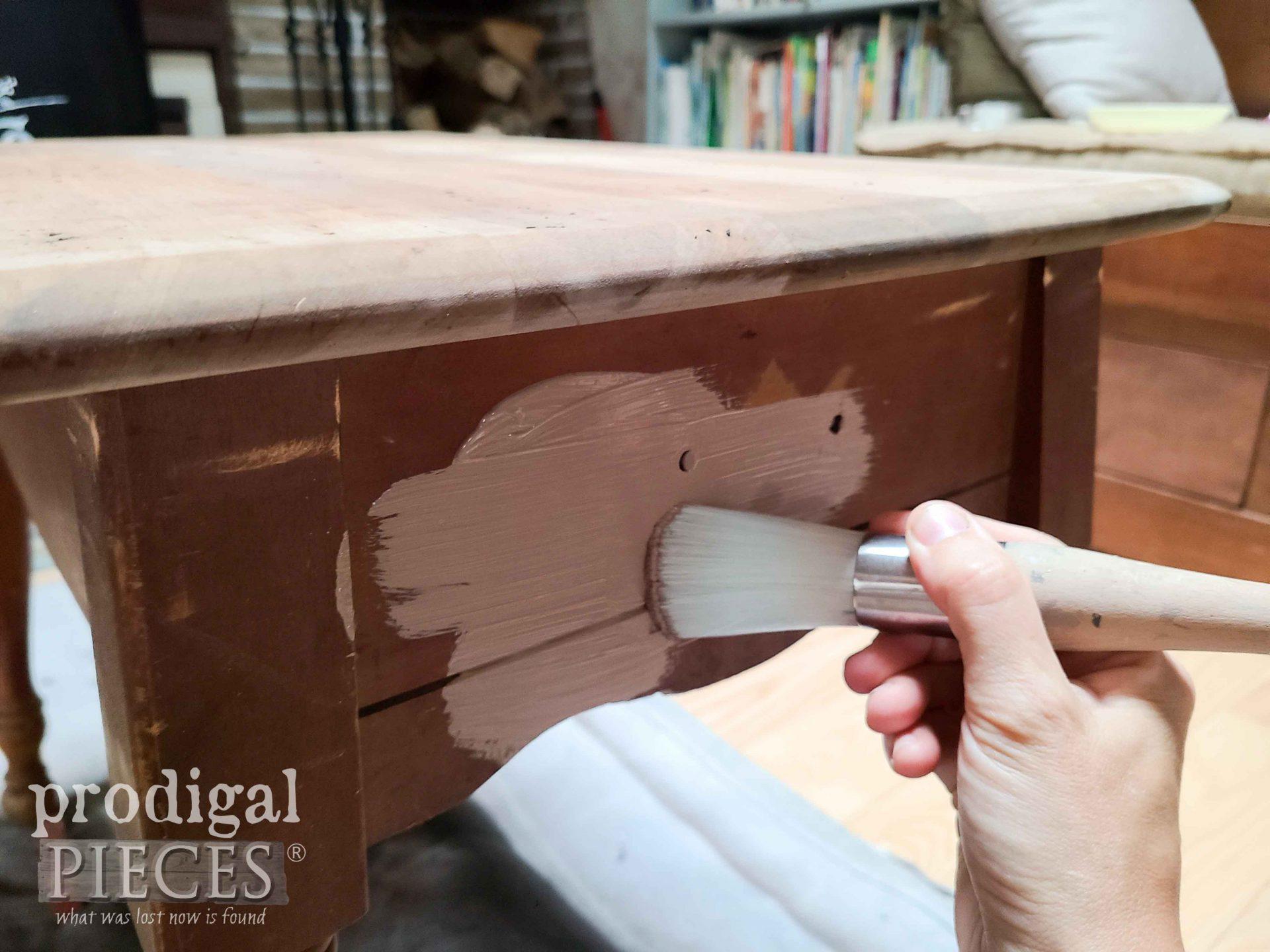 Painting Vintage Farmhouse Table Base | prodigalpieces.com