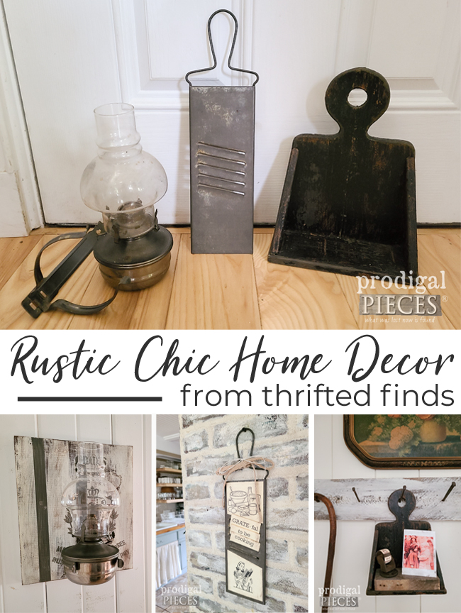Grab those thrifted finds and create your own rustic chic home decor   Stop by Prodigal Pieces to see more   prodigalpieces.com #prodigalpieces #farmhouse #diy #home
