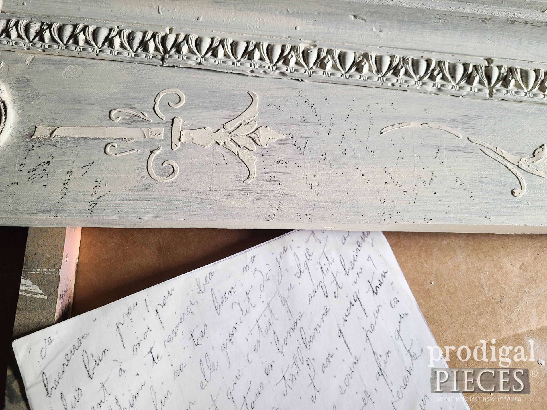 DIY Wax Paper French Script Transfer Tutorial by Larissa of Prodigal Pieces | prodigalpieces.com