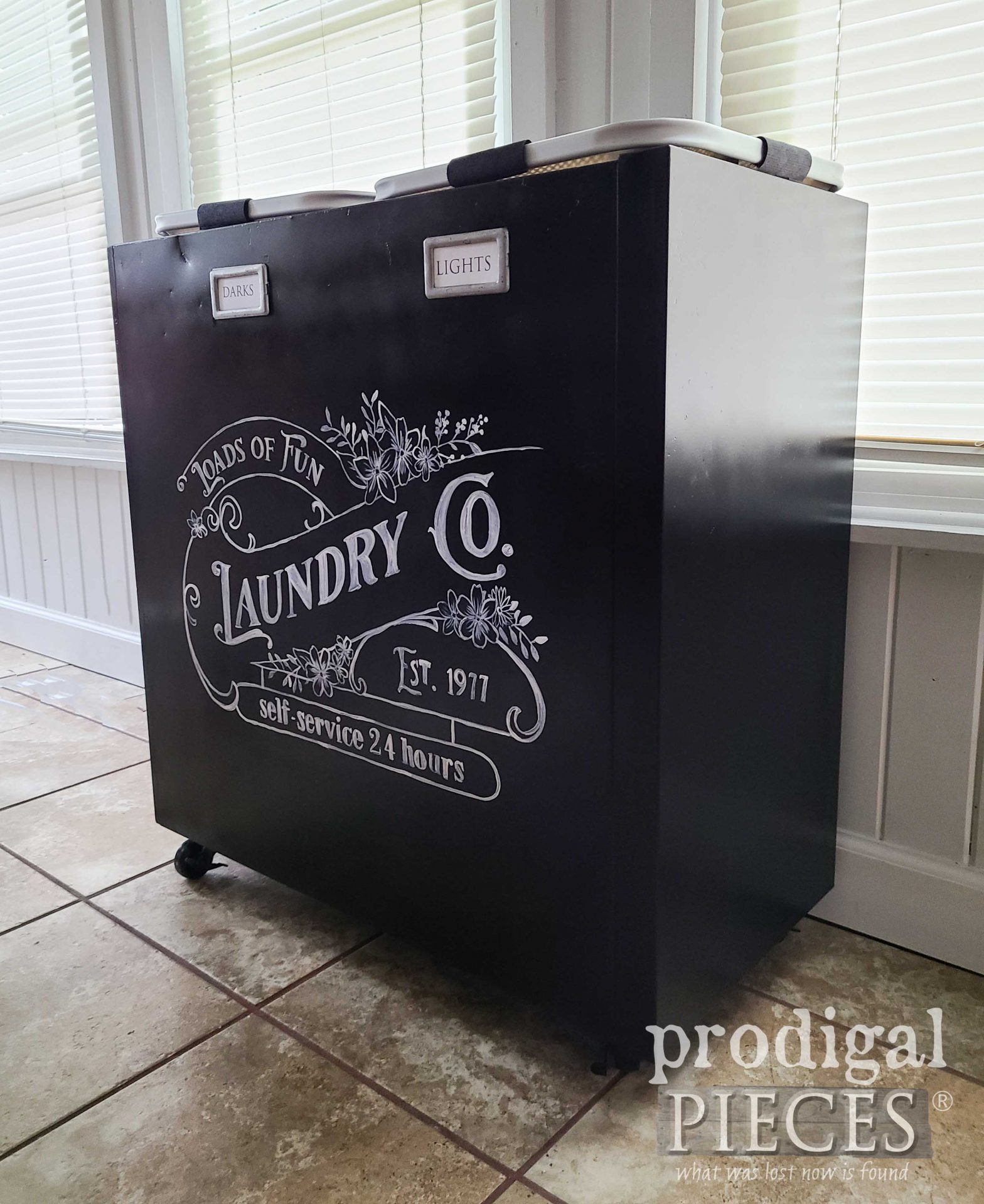 Side View of Upcycled Filing Cabinet by Larissa of Prodigal Pieces   prodigalpieces.com #prodigalpieces #upcycled #home #diy #laundry