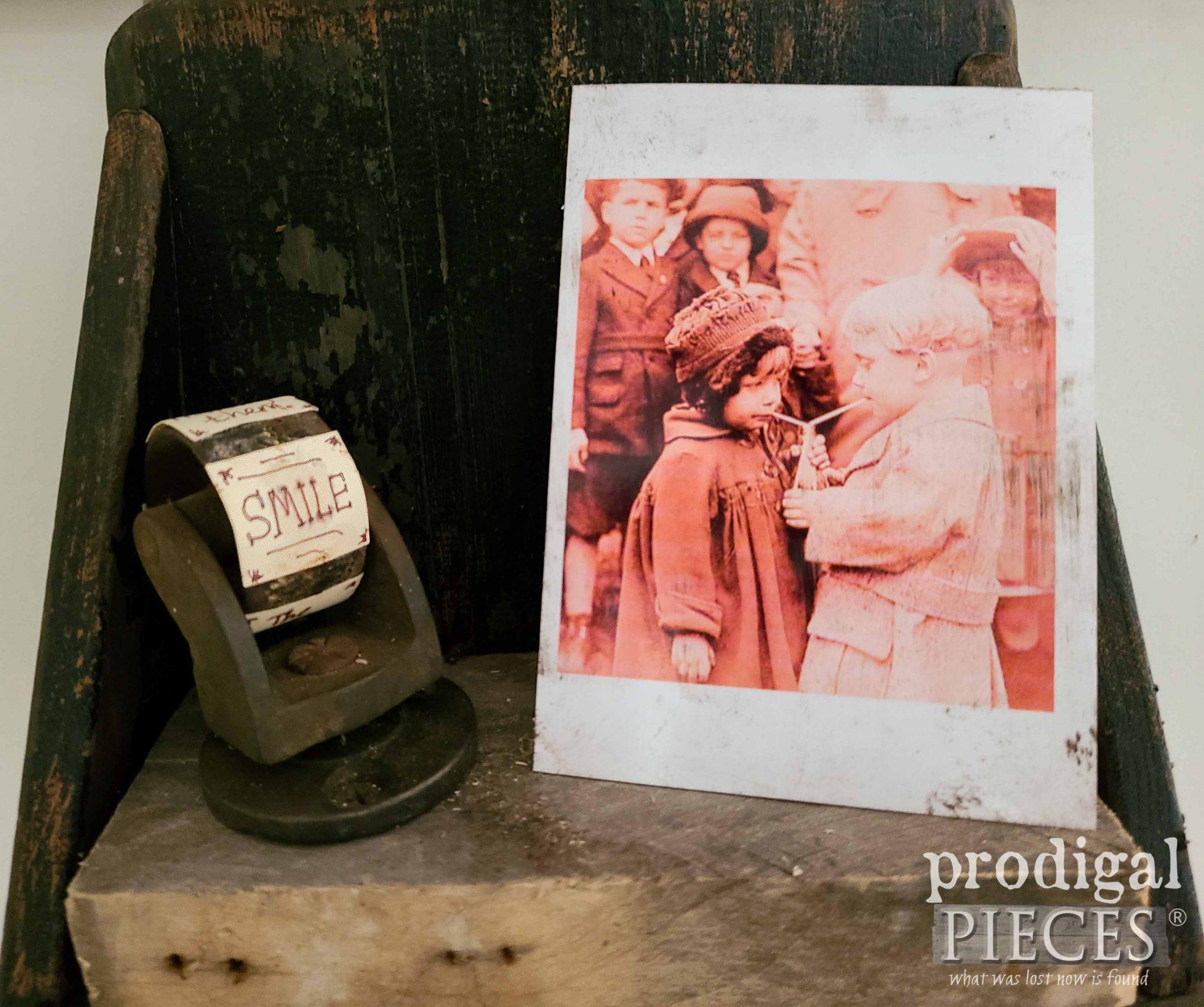 Rustic Chic Prim Memory Photo Shelf   prodigalpieces.com #prodigalpieces